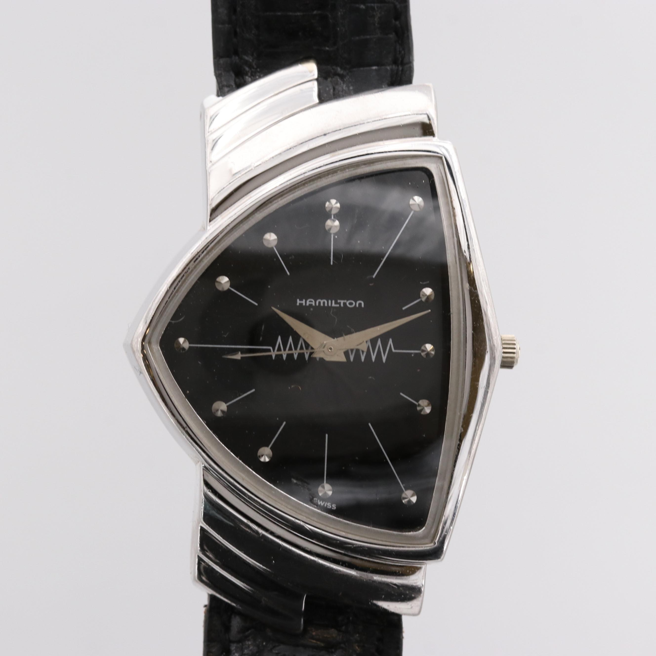 Hamilton Ventura Registered Edition 18K White Gold Plated Wristwatch