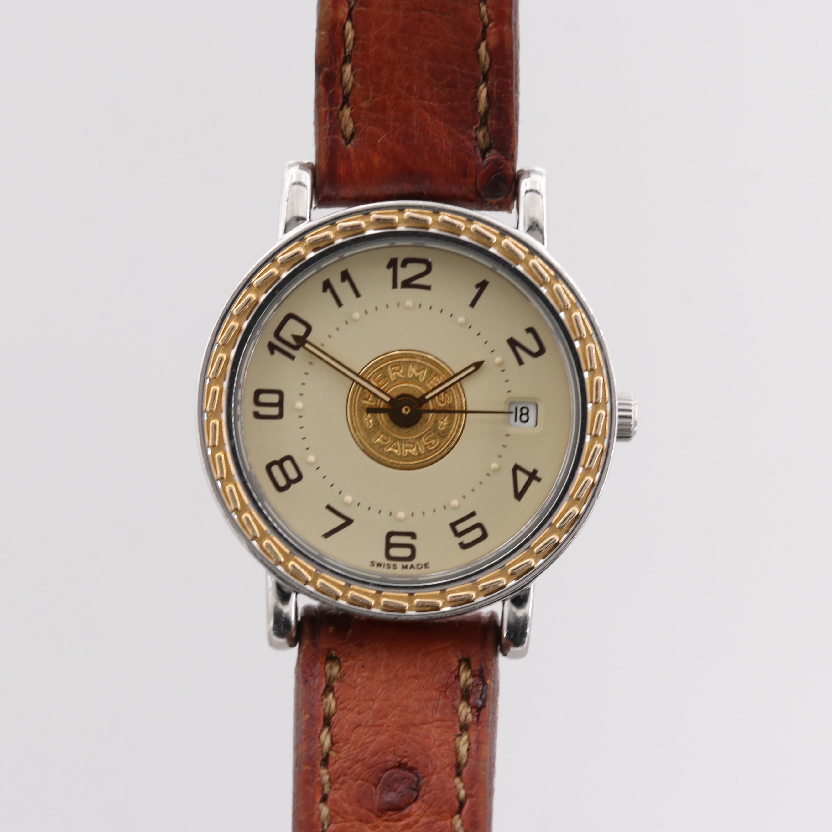 Hermès Two Tone Stainless Steel Quartz Wristwatch With Date