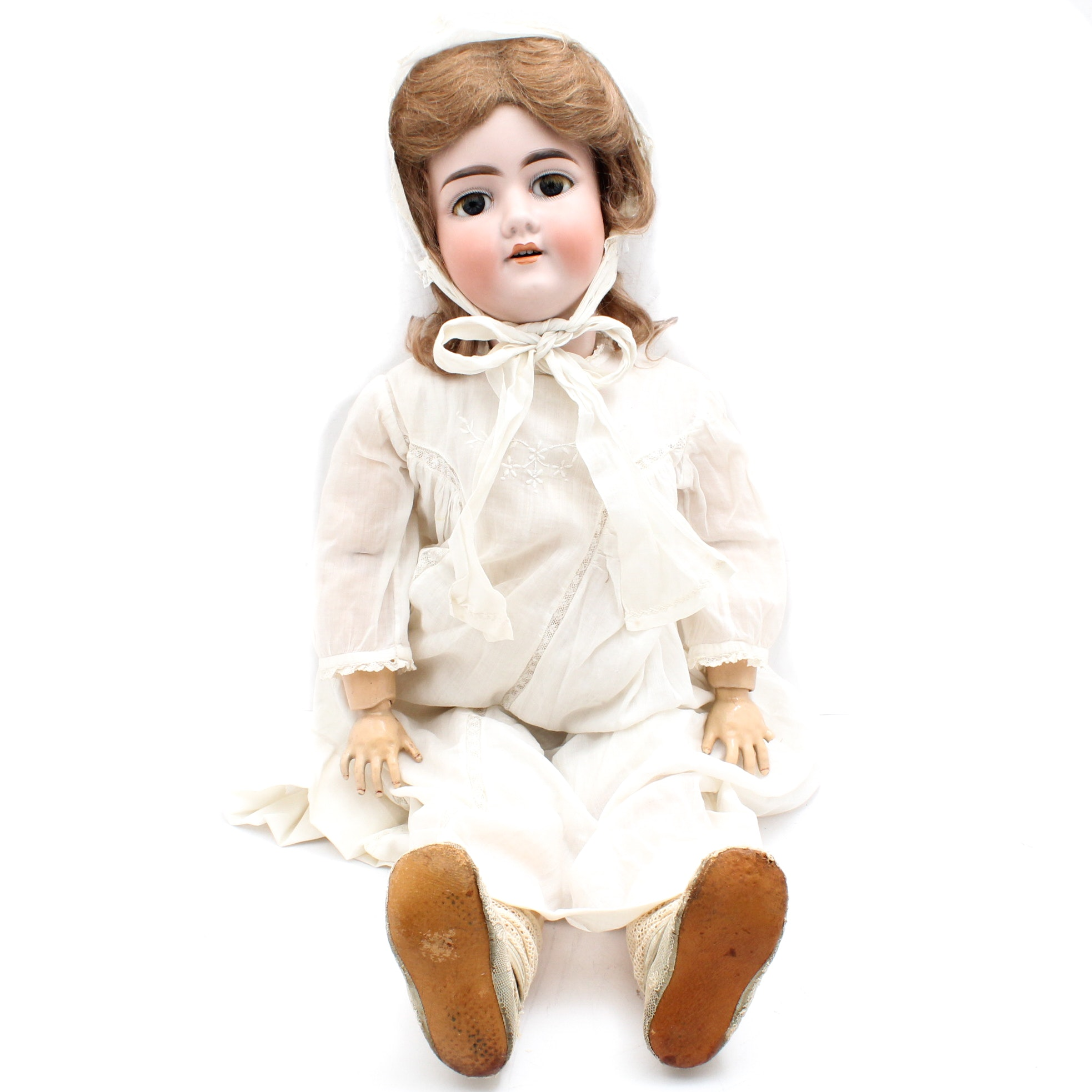 "Antique 28"" Armand Marseille Jointed Bisque and Composition Doll"