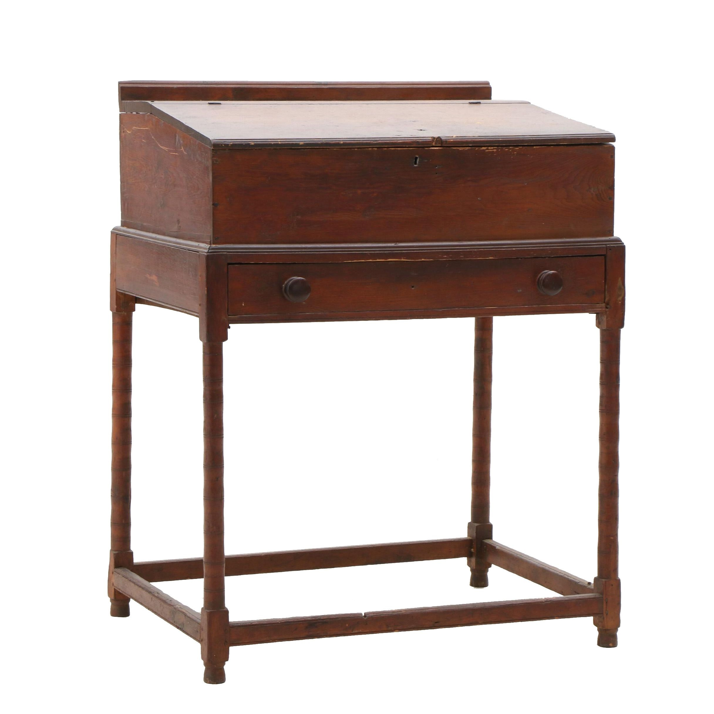 Pine Desk on Stand, Late Colonial Period, Circa 1770