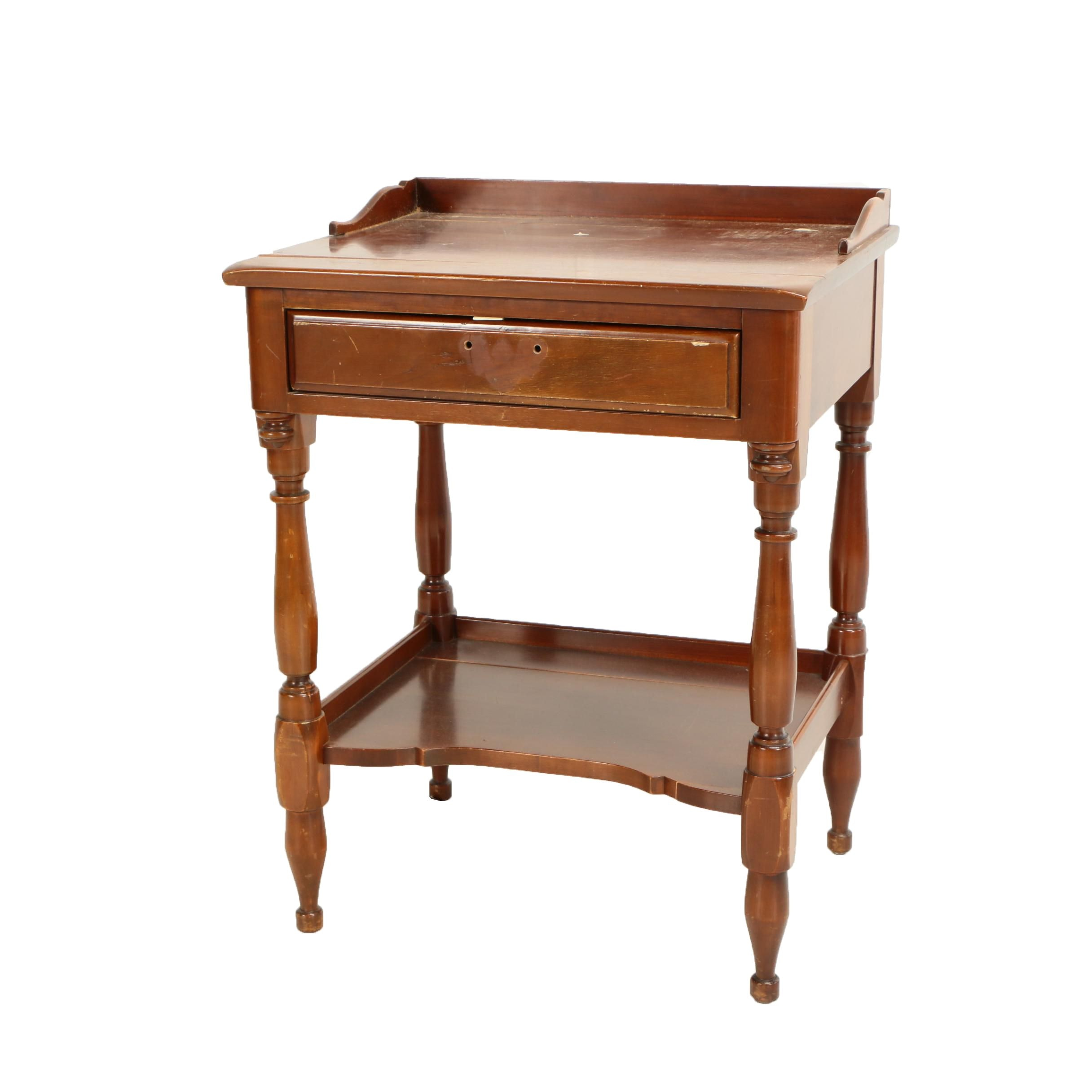 Early American Style Cherry Bedside Stand by Monitor Furniture Co., Mid-Century