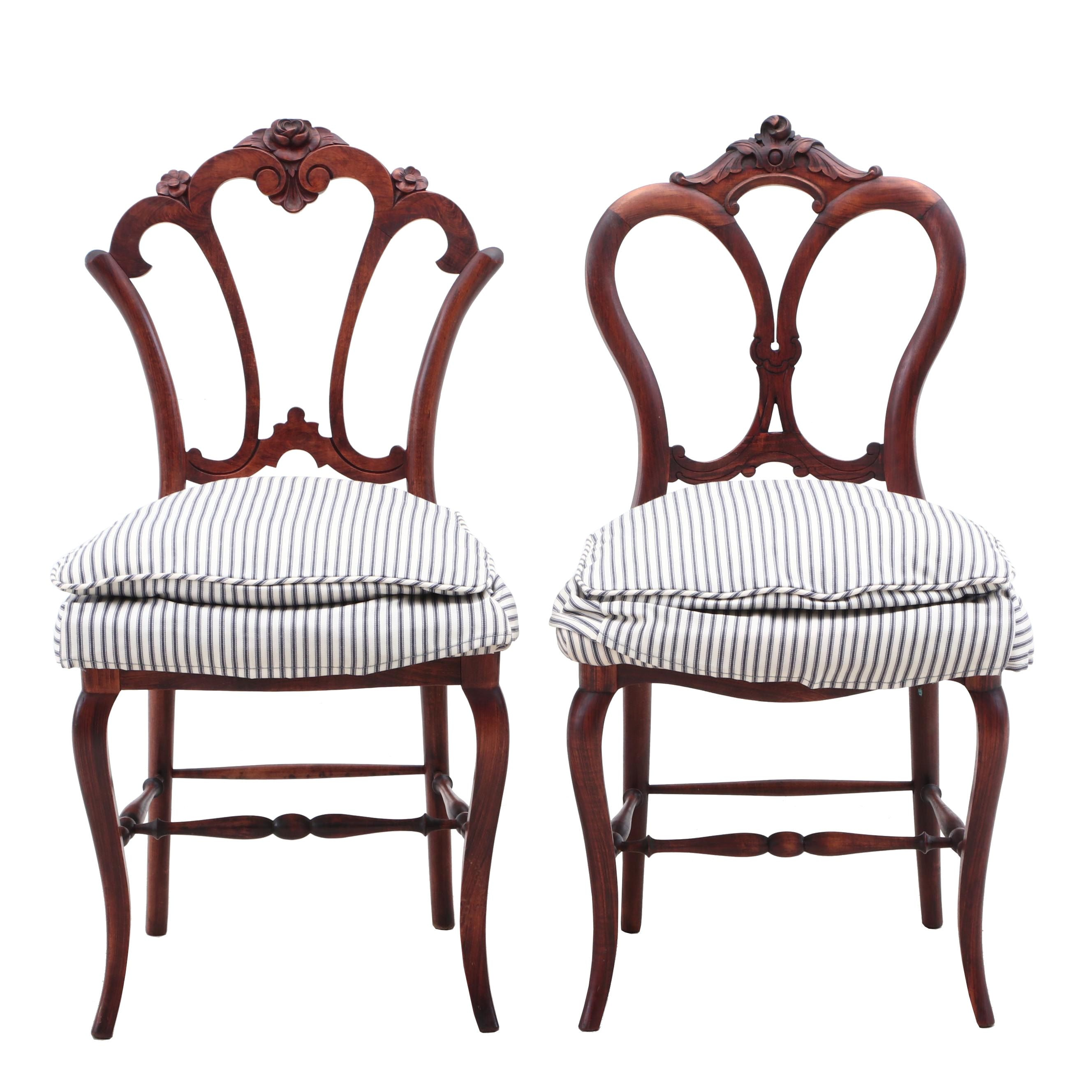 Non-Matching Victorian Style Side Chairs