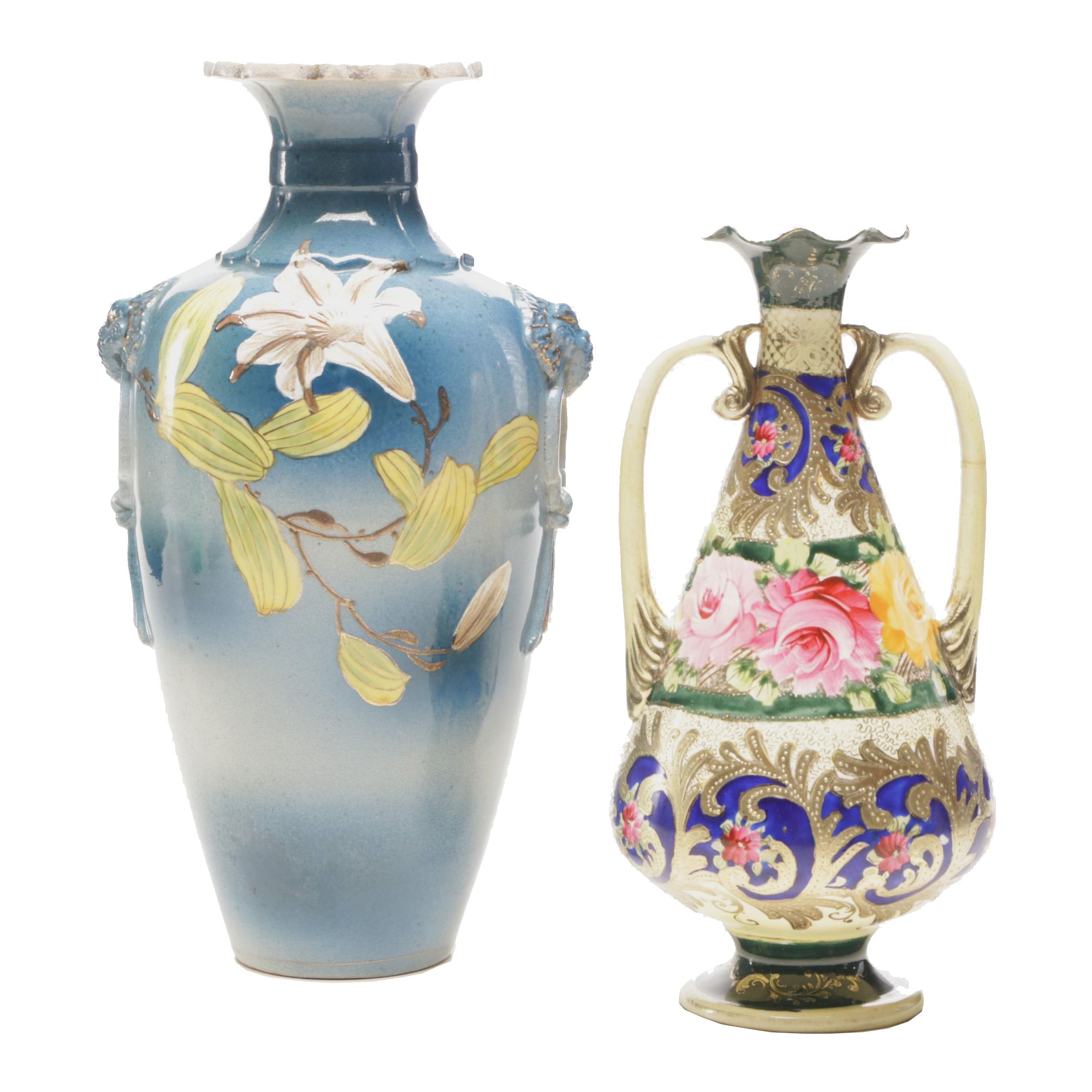 Decorative Hand-Painted Vases