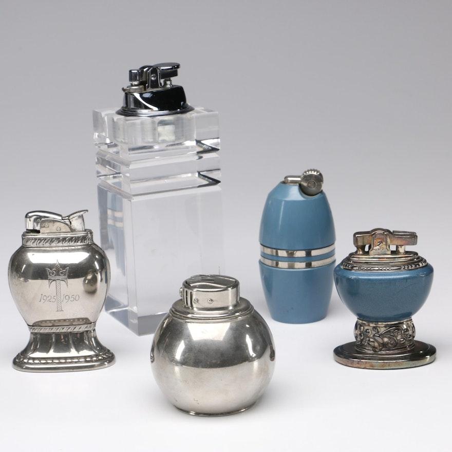 Enjoyable Cigarette Lighters Including 1960S Poppell Drum Barrel Table Lighter Interior Design Ideas Gentotryabchikinfo