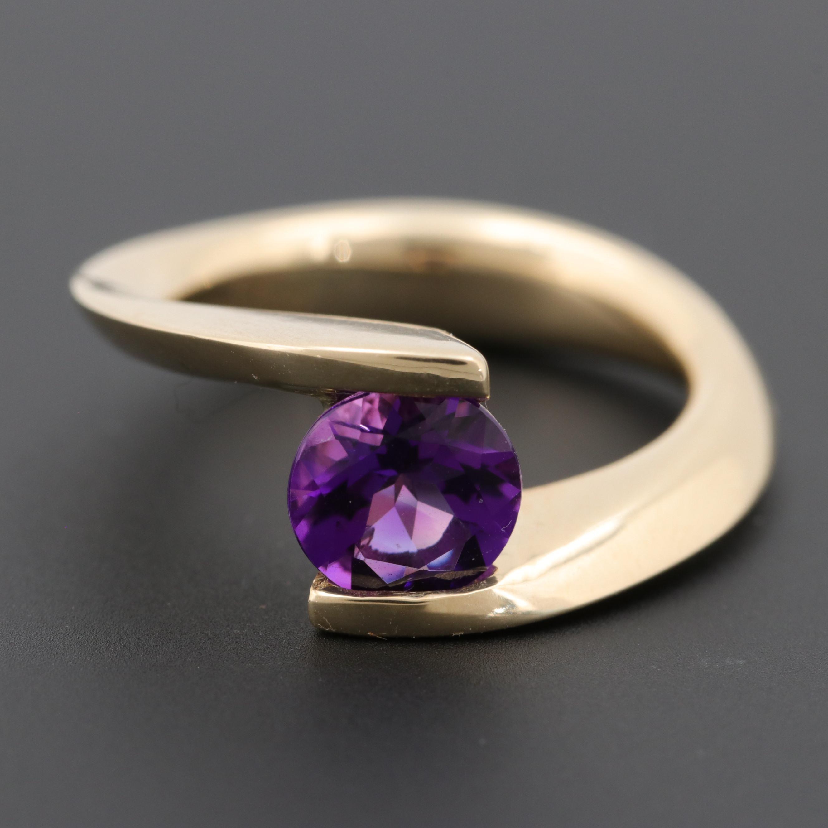 Gelin Abaci 14K Yellow Gold Amethyst Ring