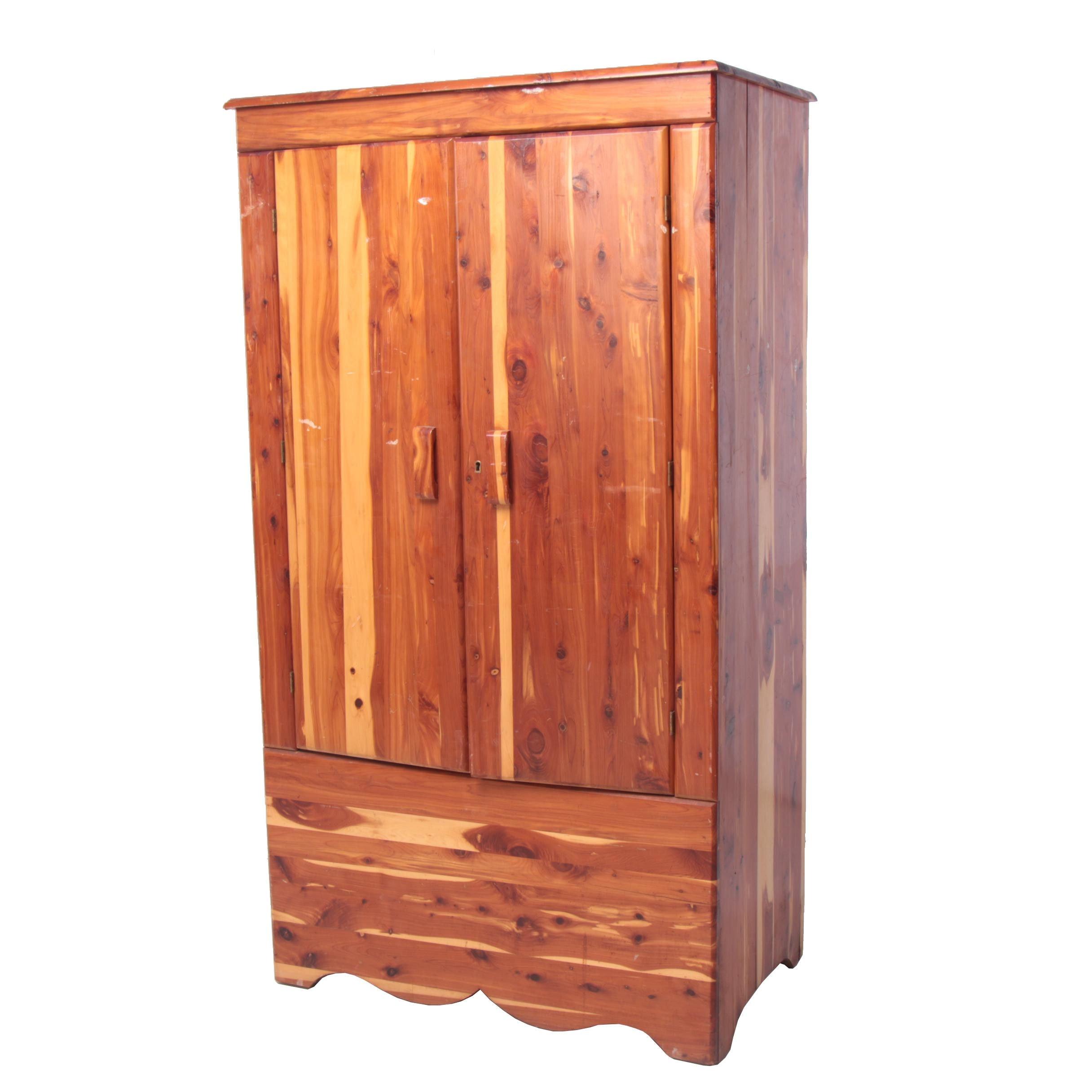American Kincaid Solid Cedar Wardrobe, Mid-Century