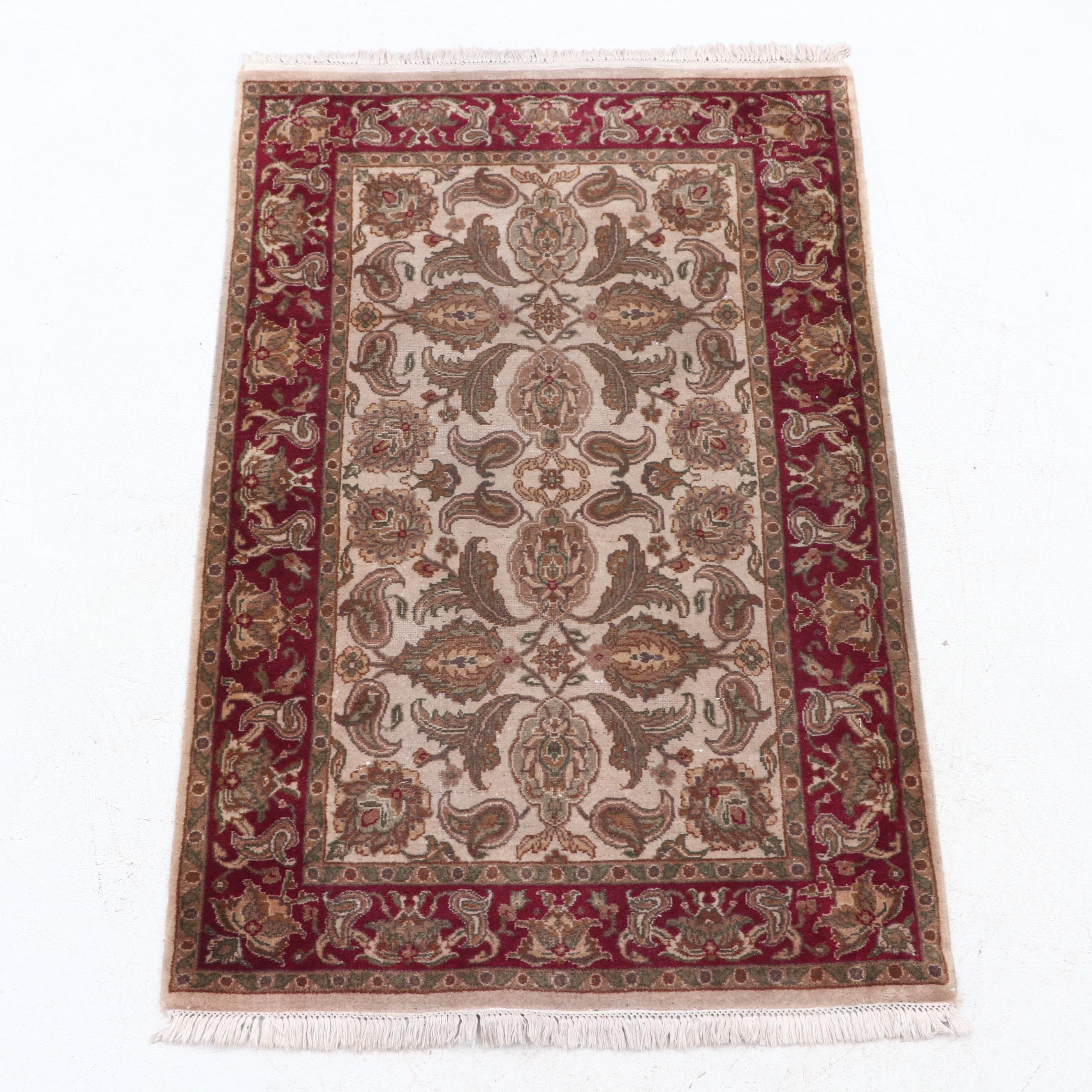 Newton Oriental Rugs Hand-Knotted Indian Wool Area Rug
