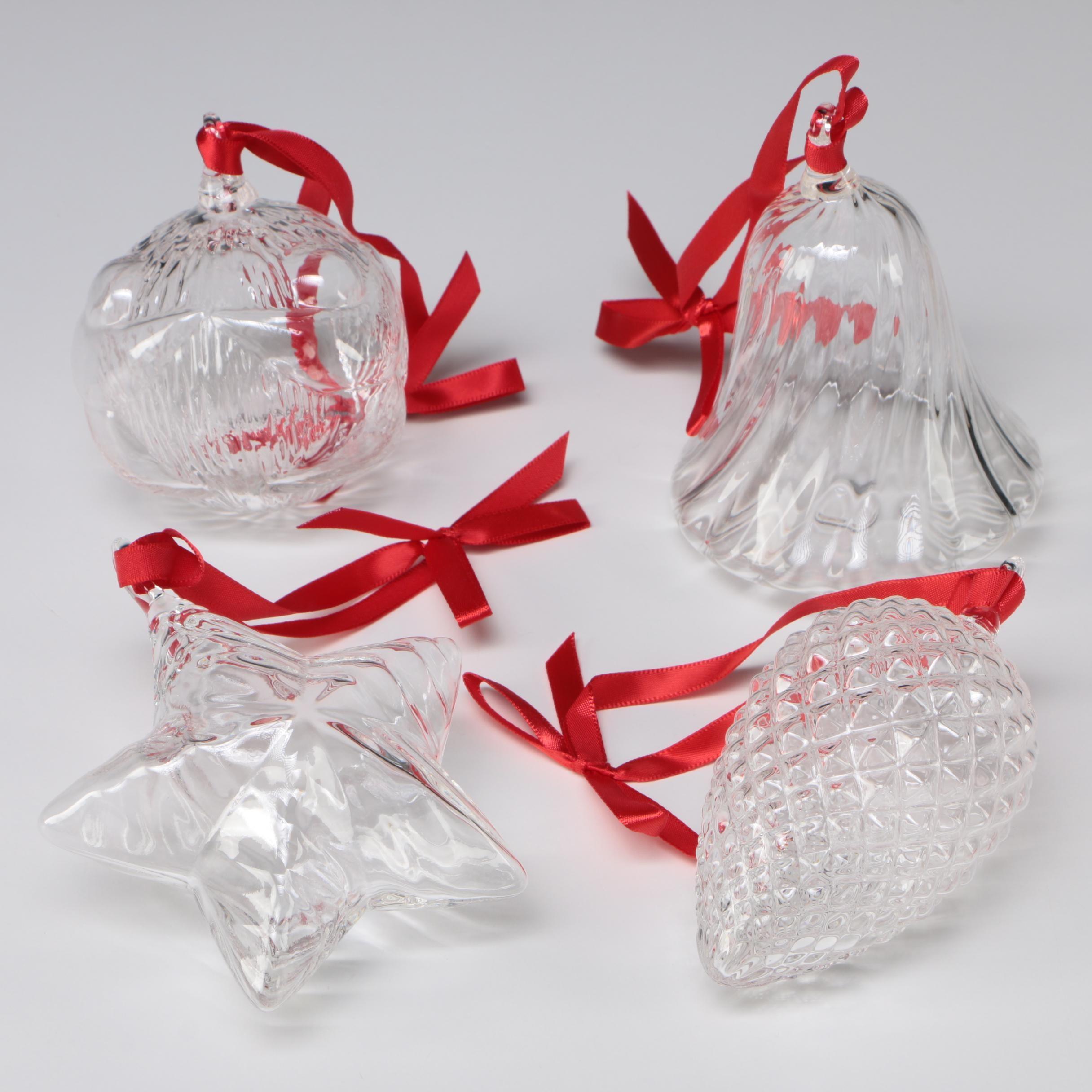 Steuben Art Glass Christmas Ornaments, 2000s