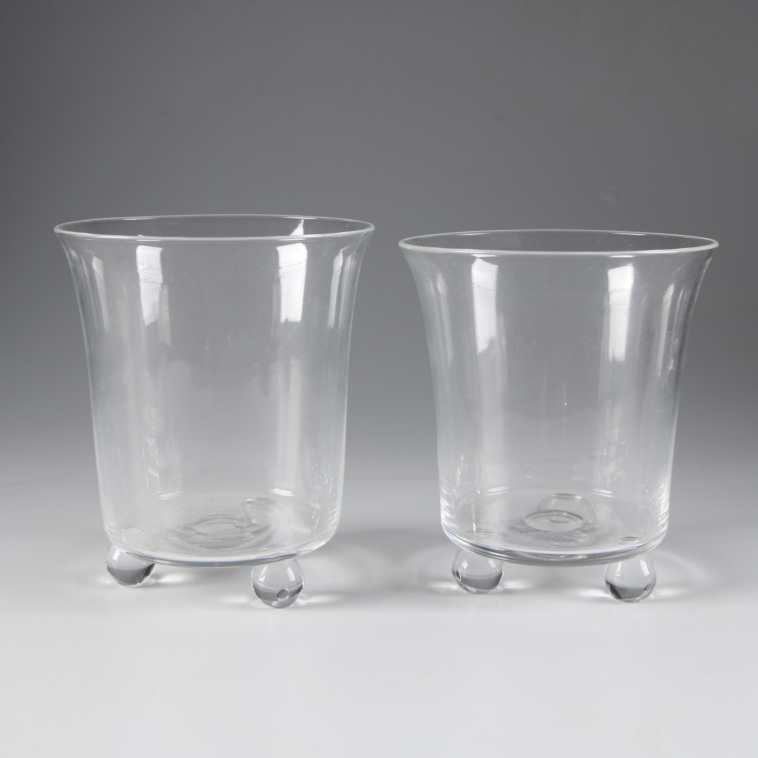 Steuben Art Glass Flared Vases, Mid-Century