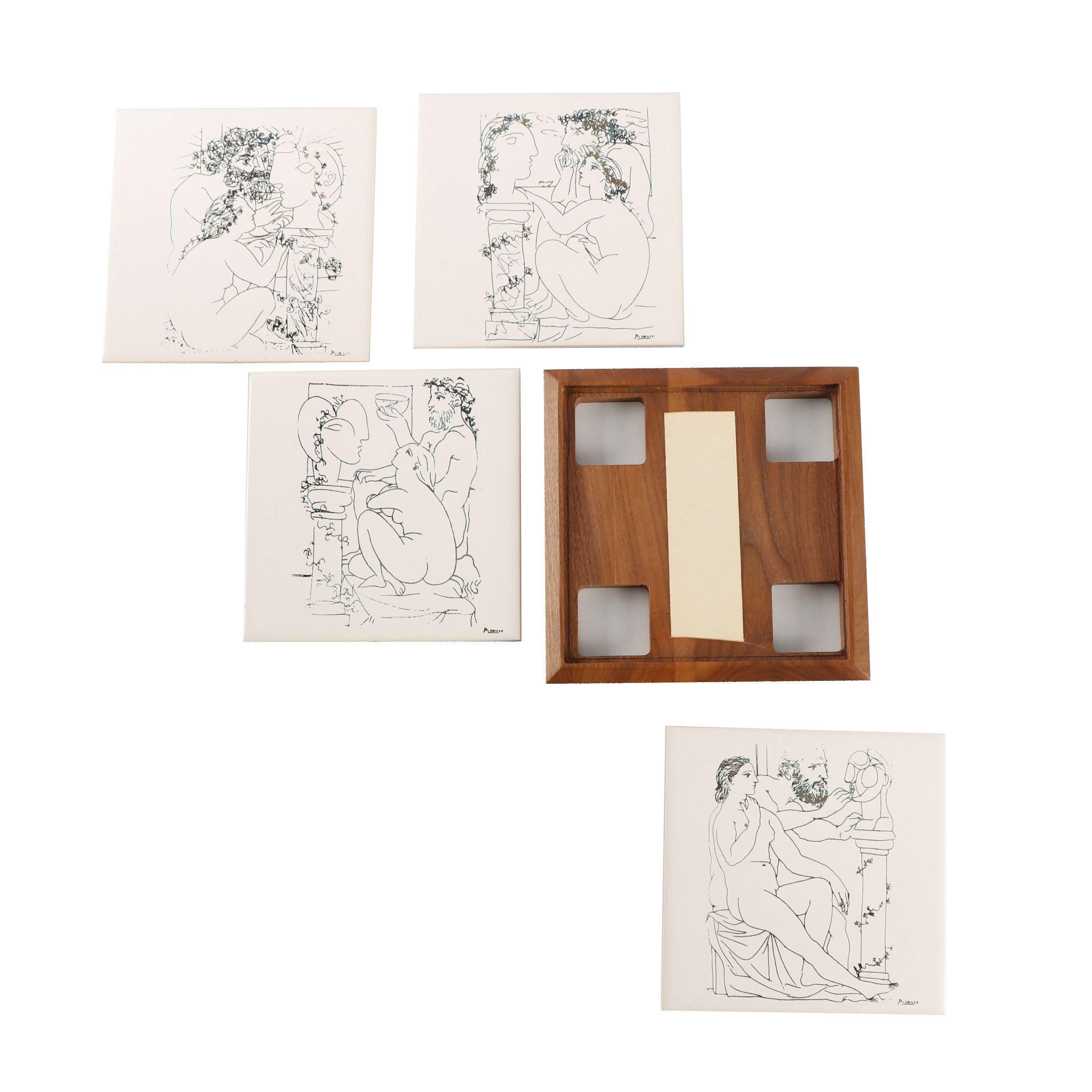 "Battram Galleries Ltd. ""Les Artistes"" Series Ceramic Tiles after Pablo Picasso"