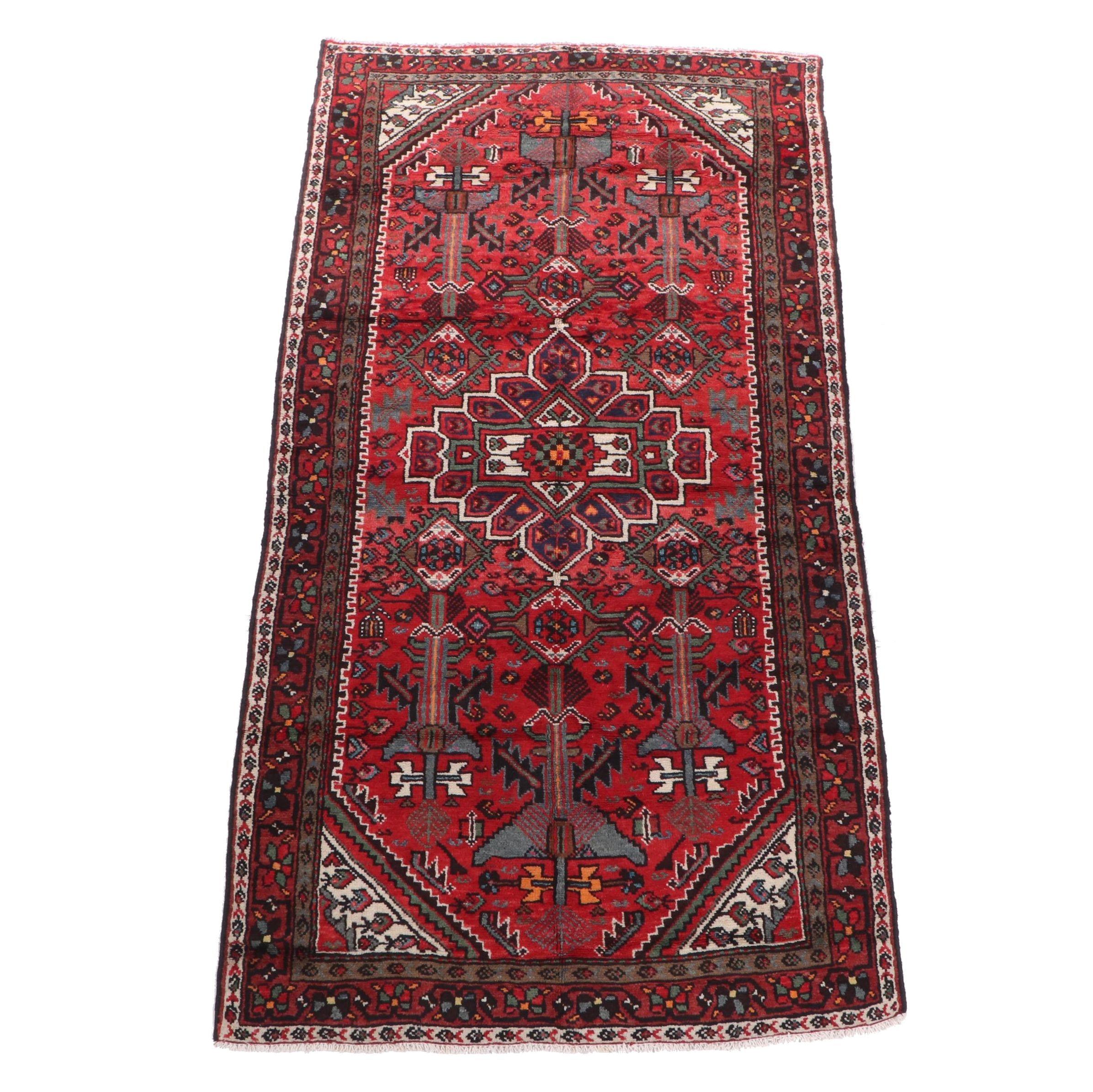 Hand-Knotted Persian Zanjan Wool Area Rug