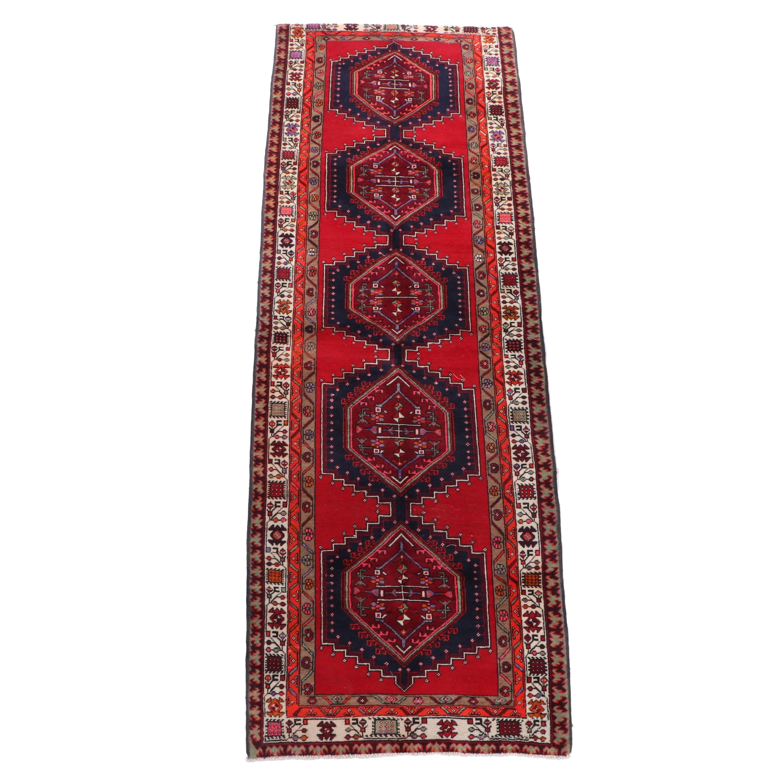 Hand-Knotted Eastern Anatolian Wool Carpet Runner