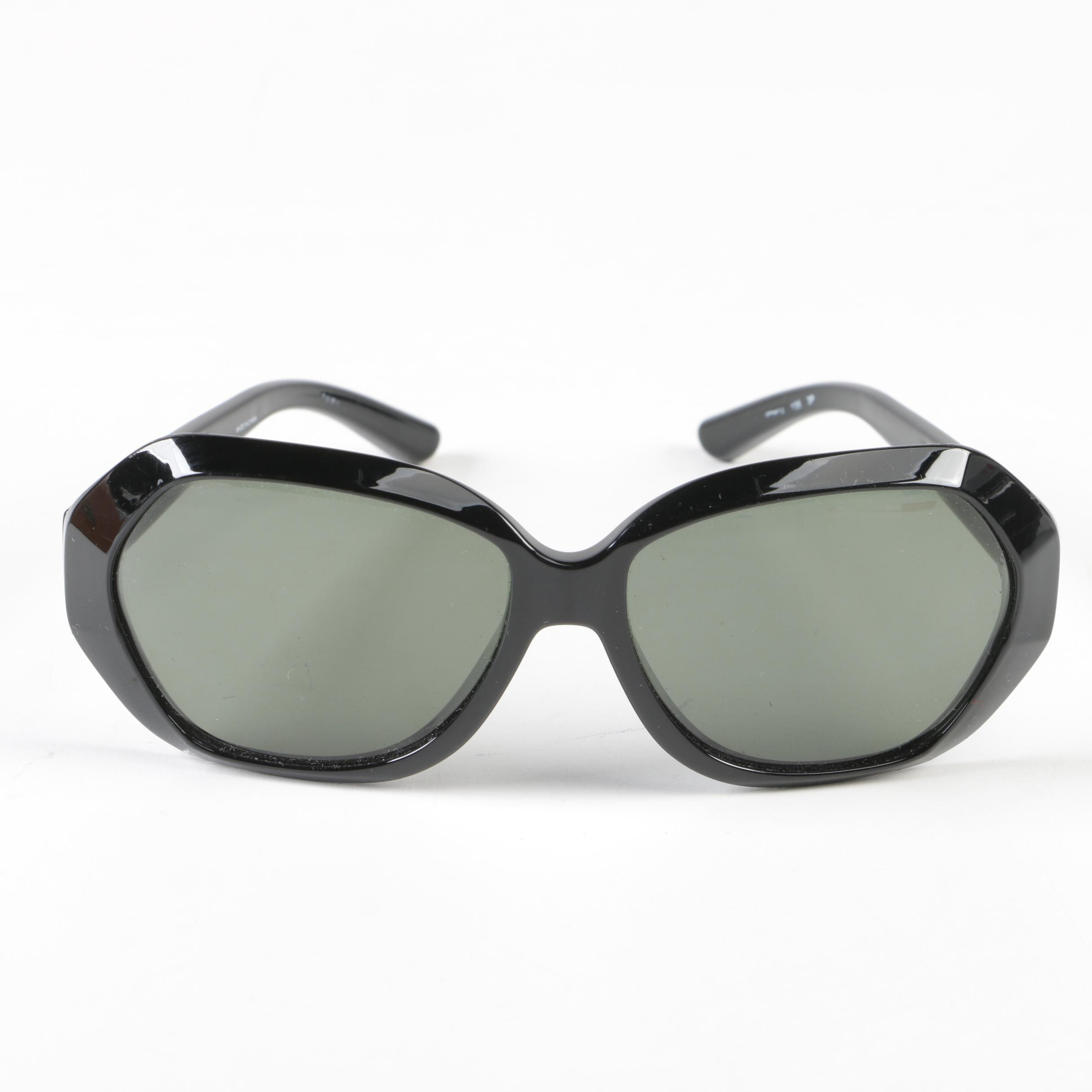 Tory Burch Polarized Black Modified Cat Eye Sunglasses with Case