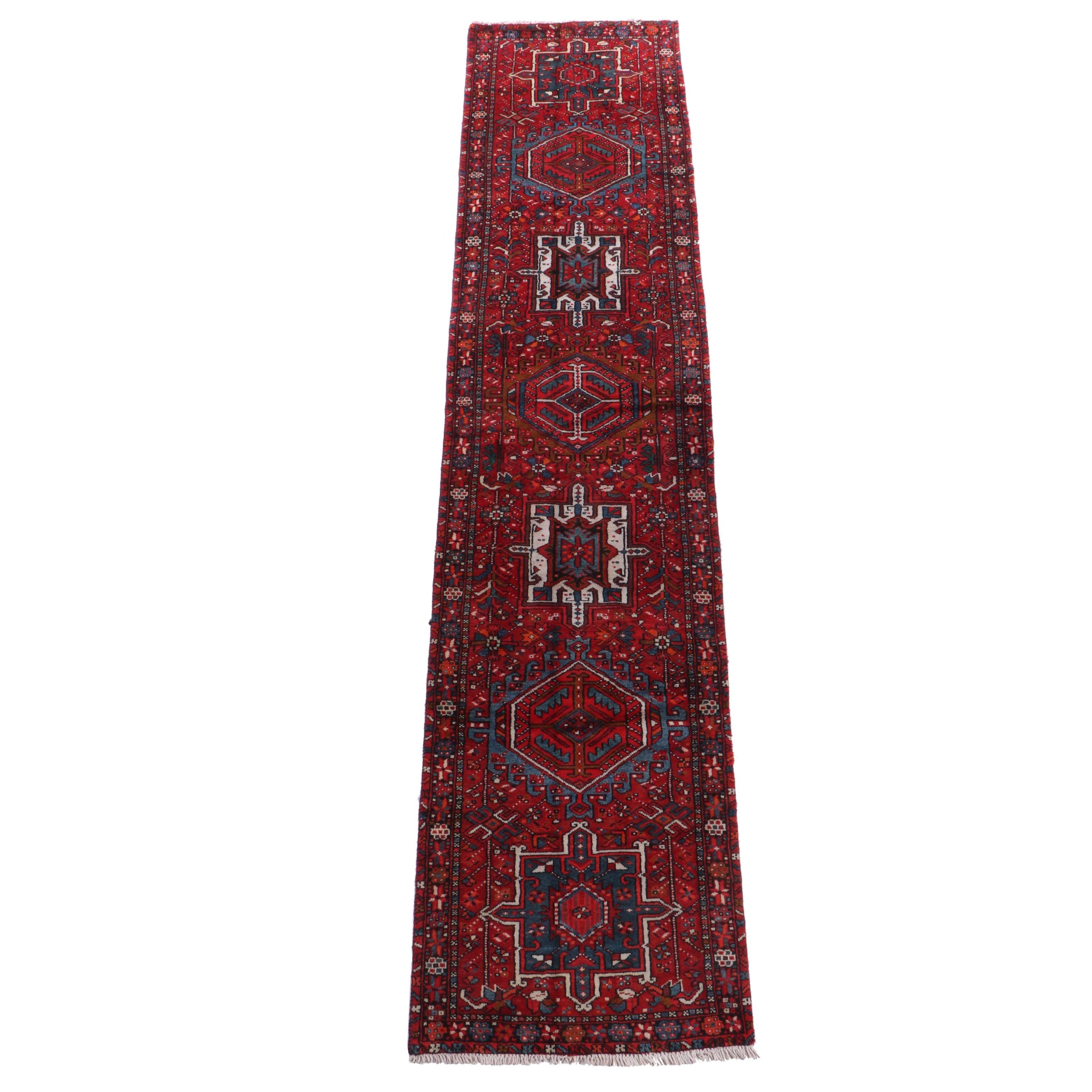 Hand-Knotted Persian Lamberan Wool Carpet Runner