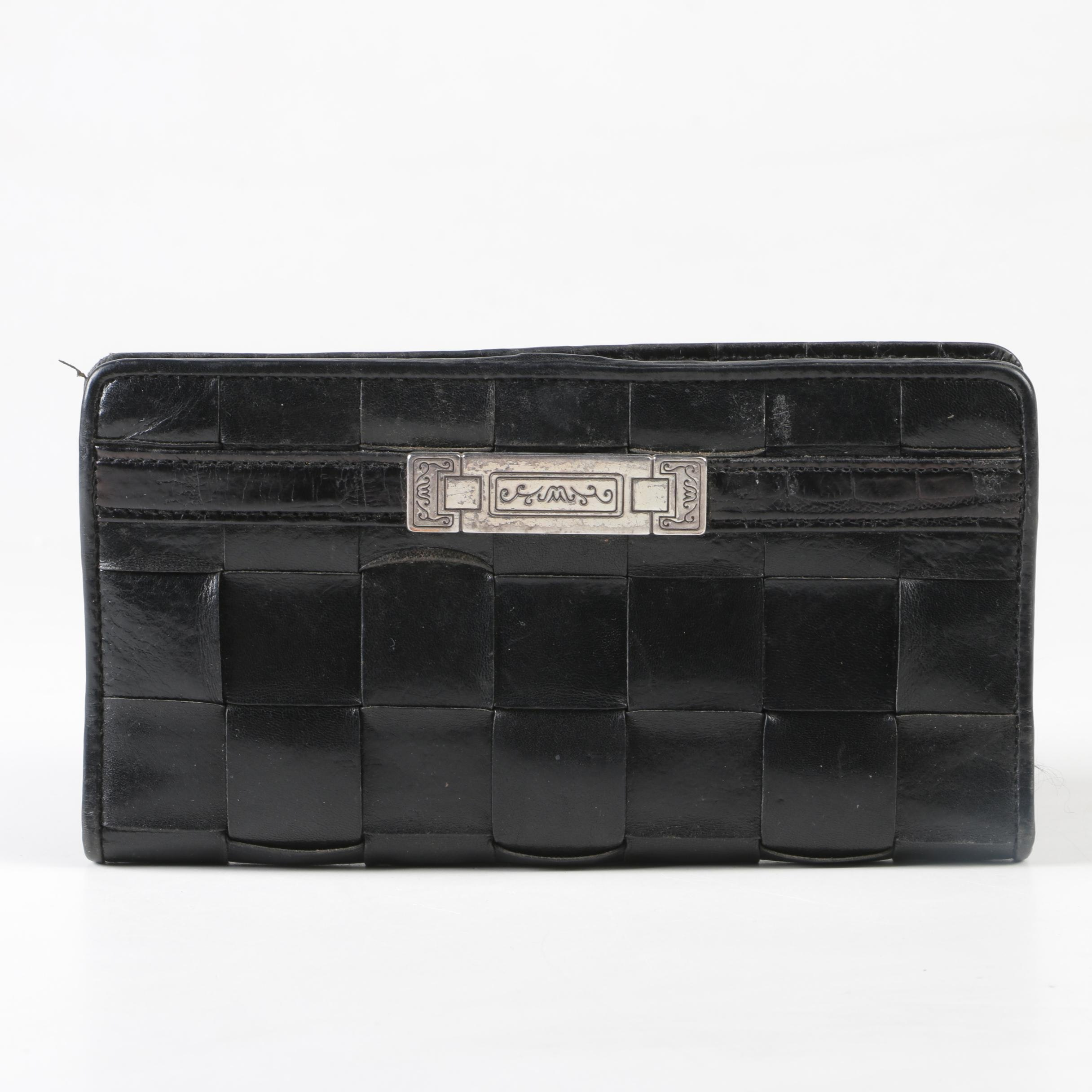 Brighton Woven and Embossed Leather Wallet