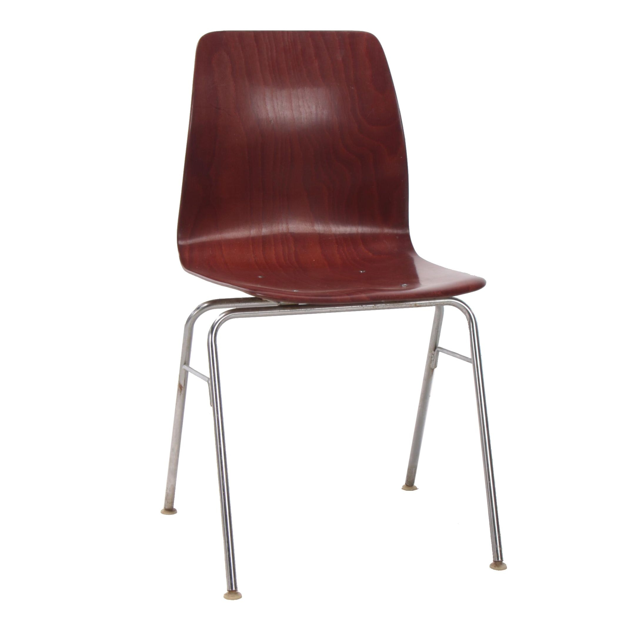 Royal Metal Co., Bentwood and Chrome Side Chair, Mid-Century