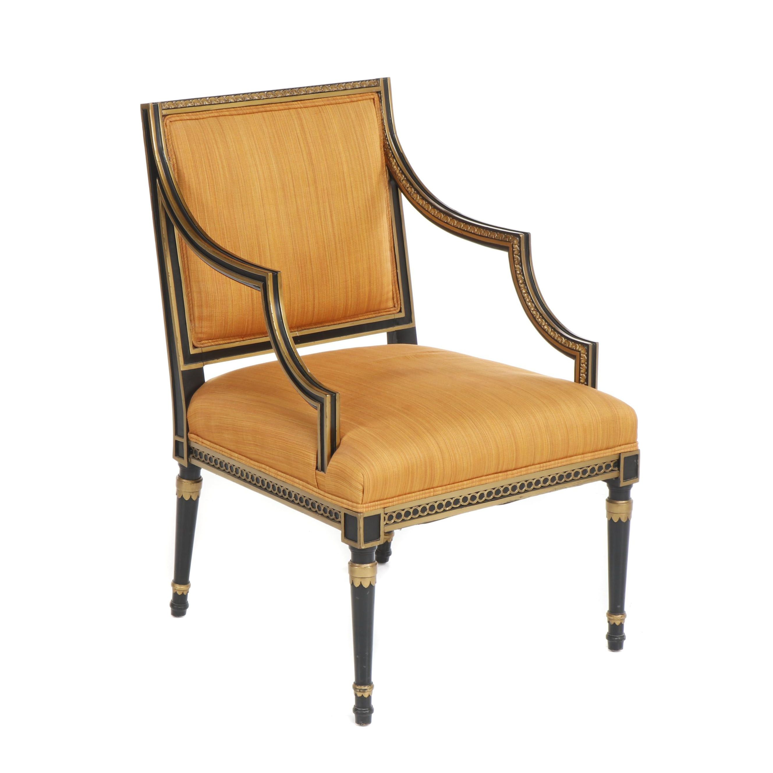 Kindel Empire Style Square Back Armchair