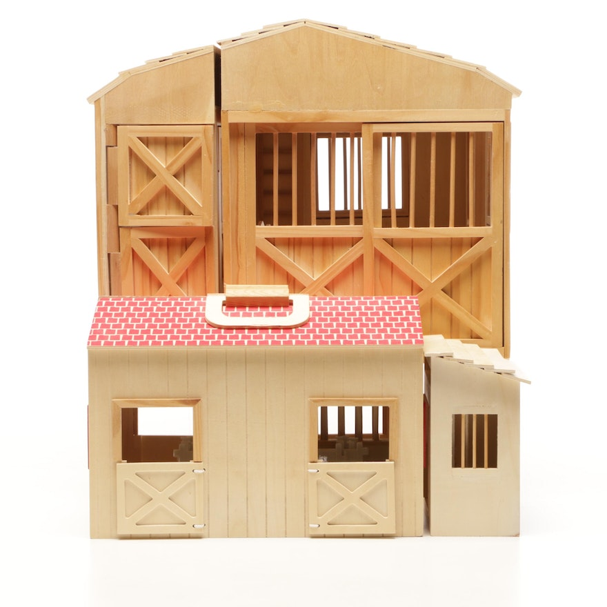 Melissa Doug Play Barn With Horse Barn And Artminds Stall