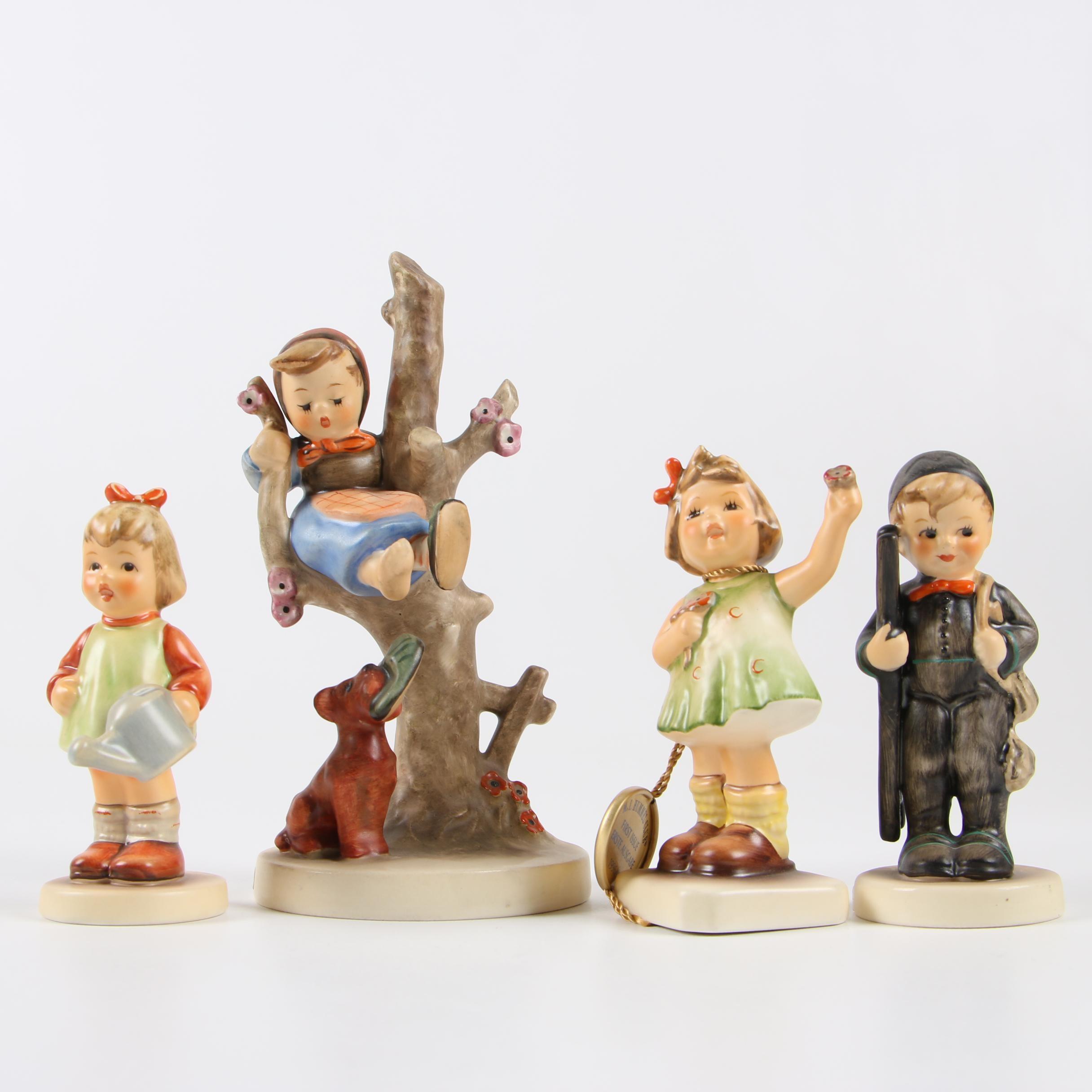 """Goebel Hummel Porcelain Figurines featuring """"Out of Danger"""""""