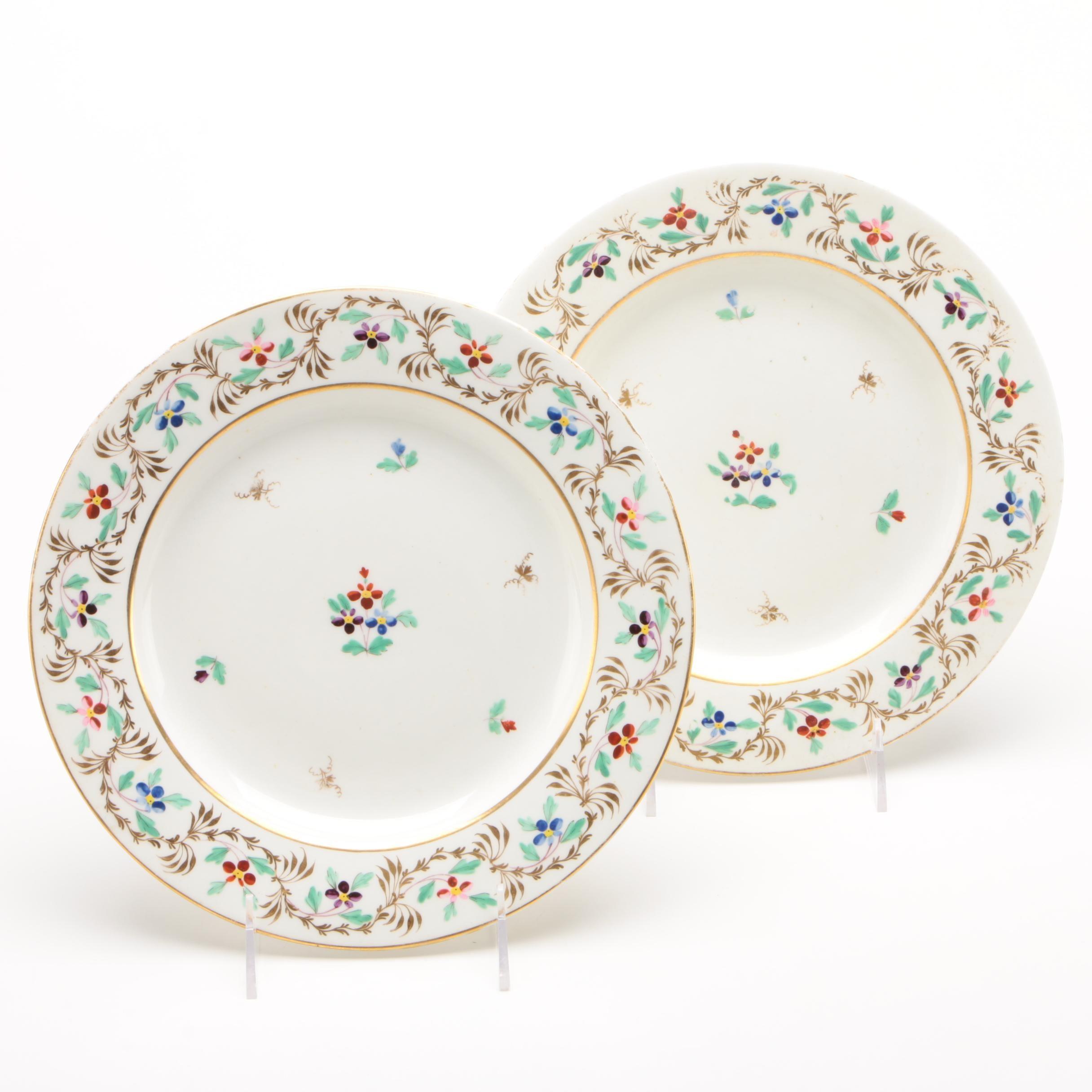 Derby Porcelain Plates, 1806-1825