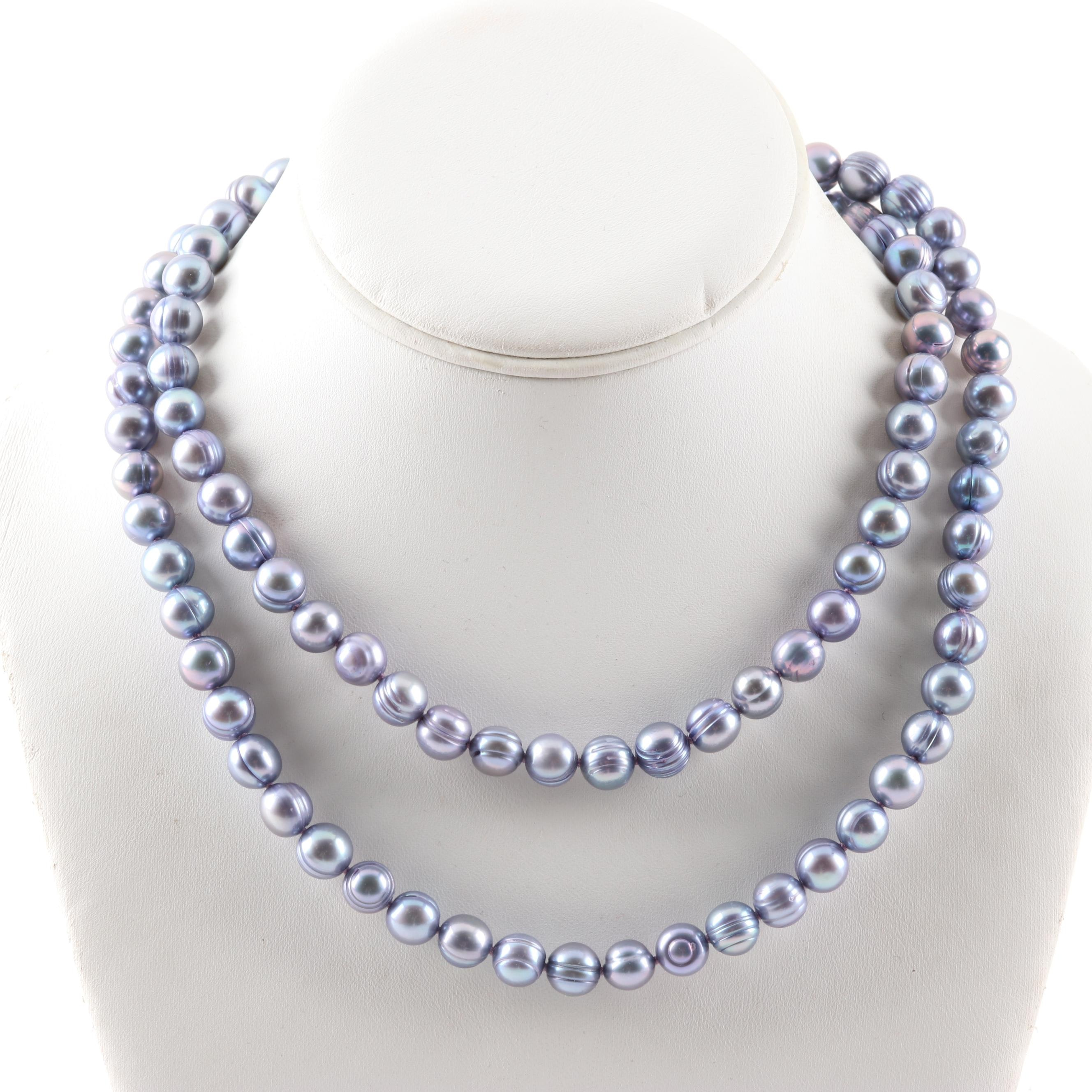 Sterling Silver Cultured Freshwater Pearl Strand Necklace