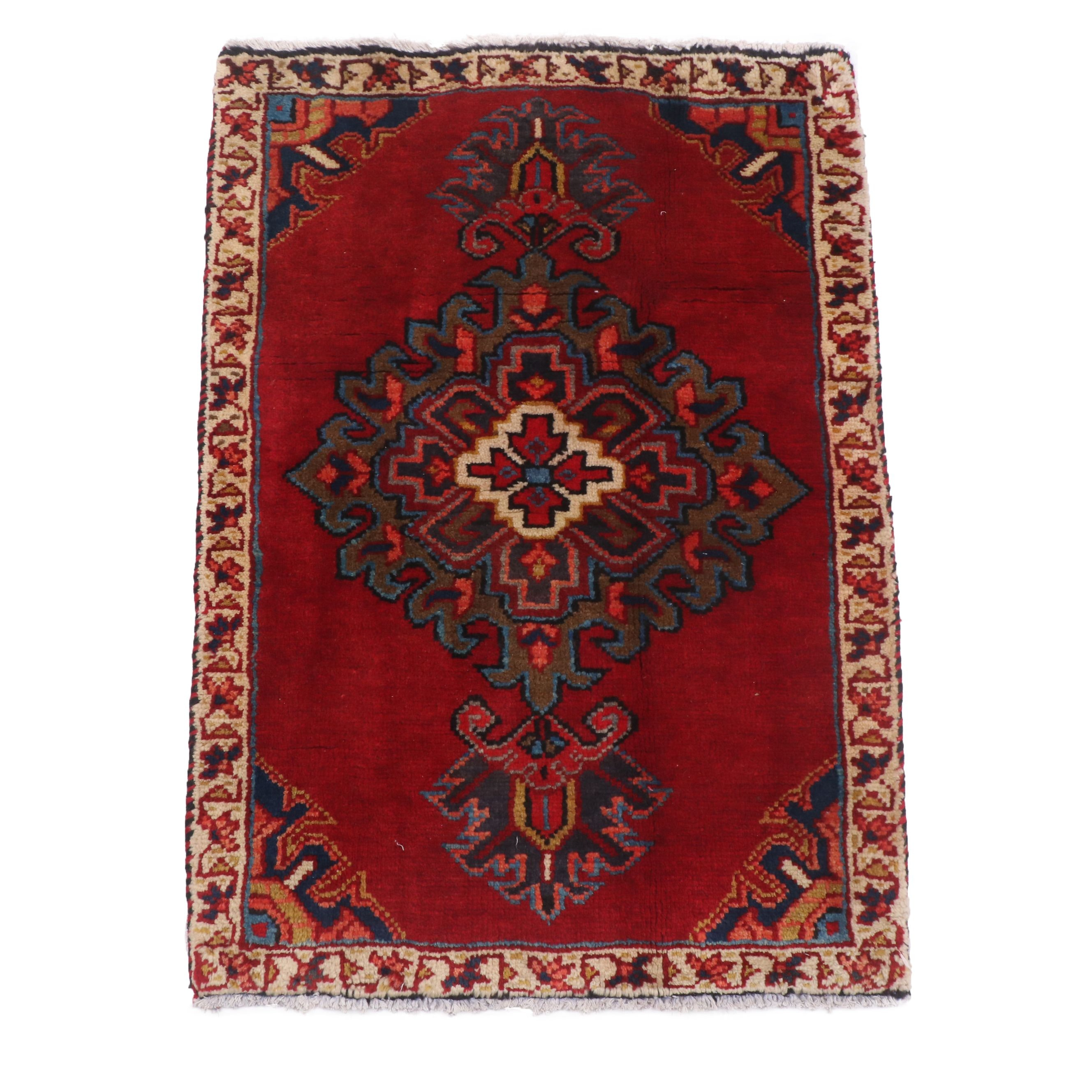 Hand-Knotted Northwest Persian Wool Accent Rug