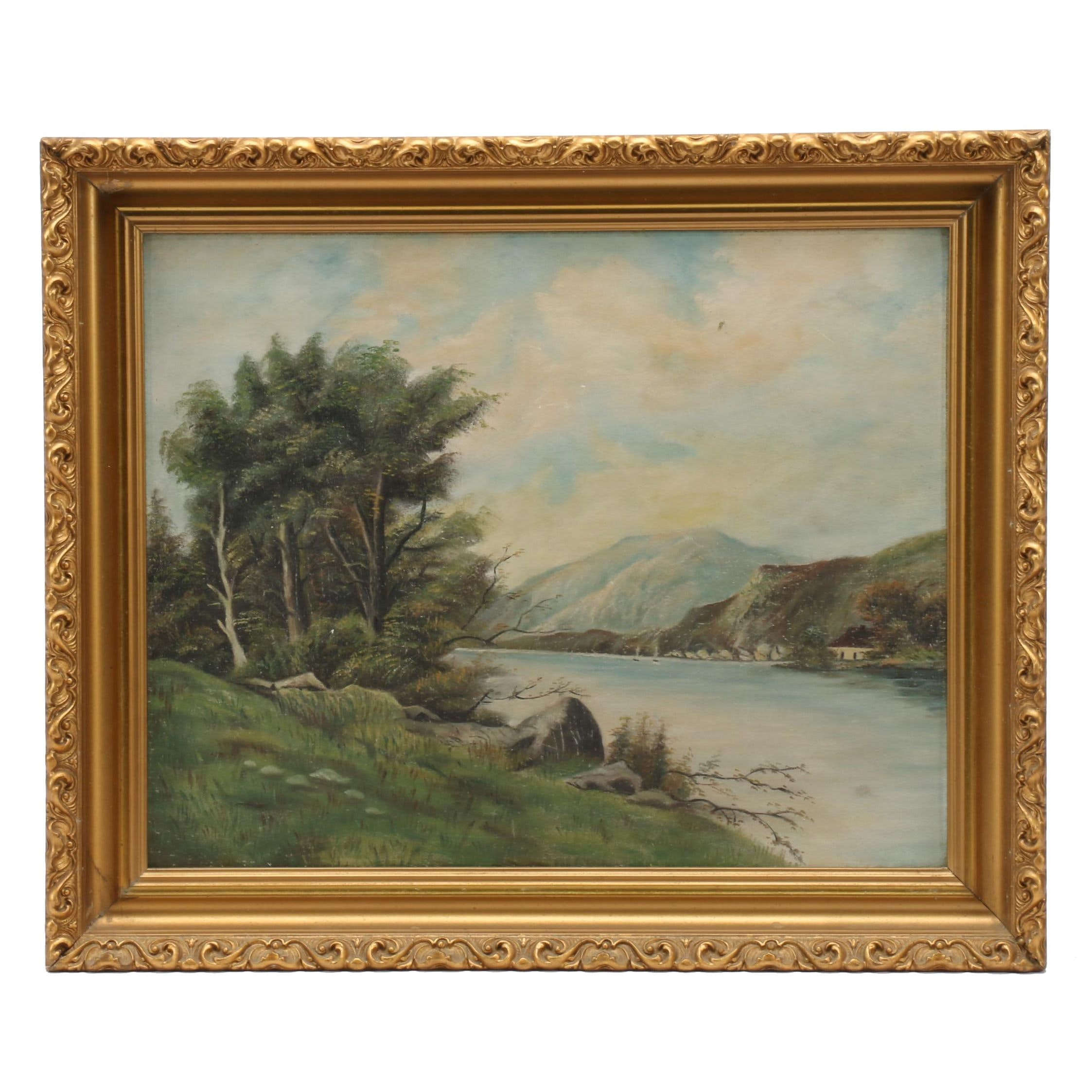 Late 19th Century Oil Landscape Painting