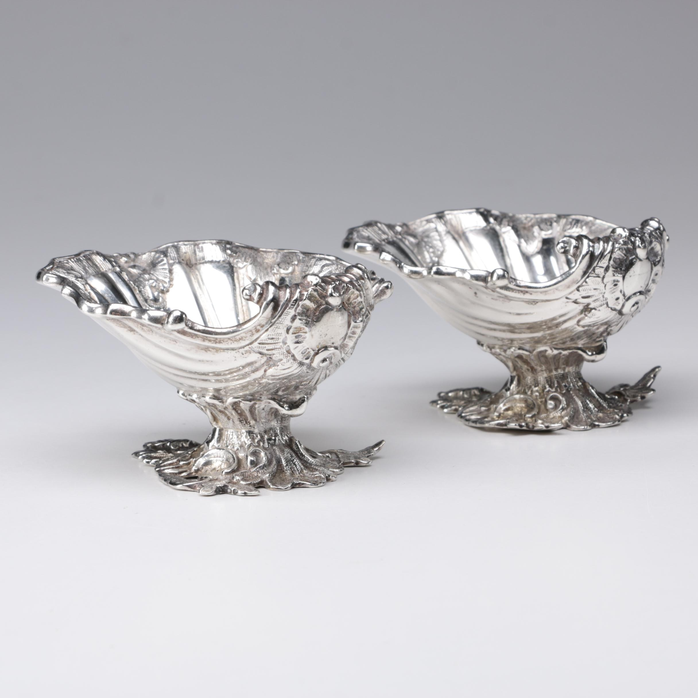 George Nathan & Ridley Hayes Chester Sterling Silver Shell Salts, 1904