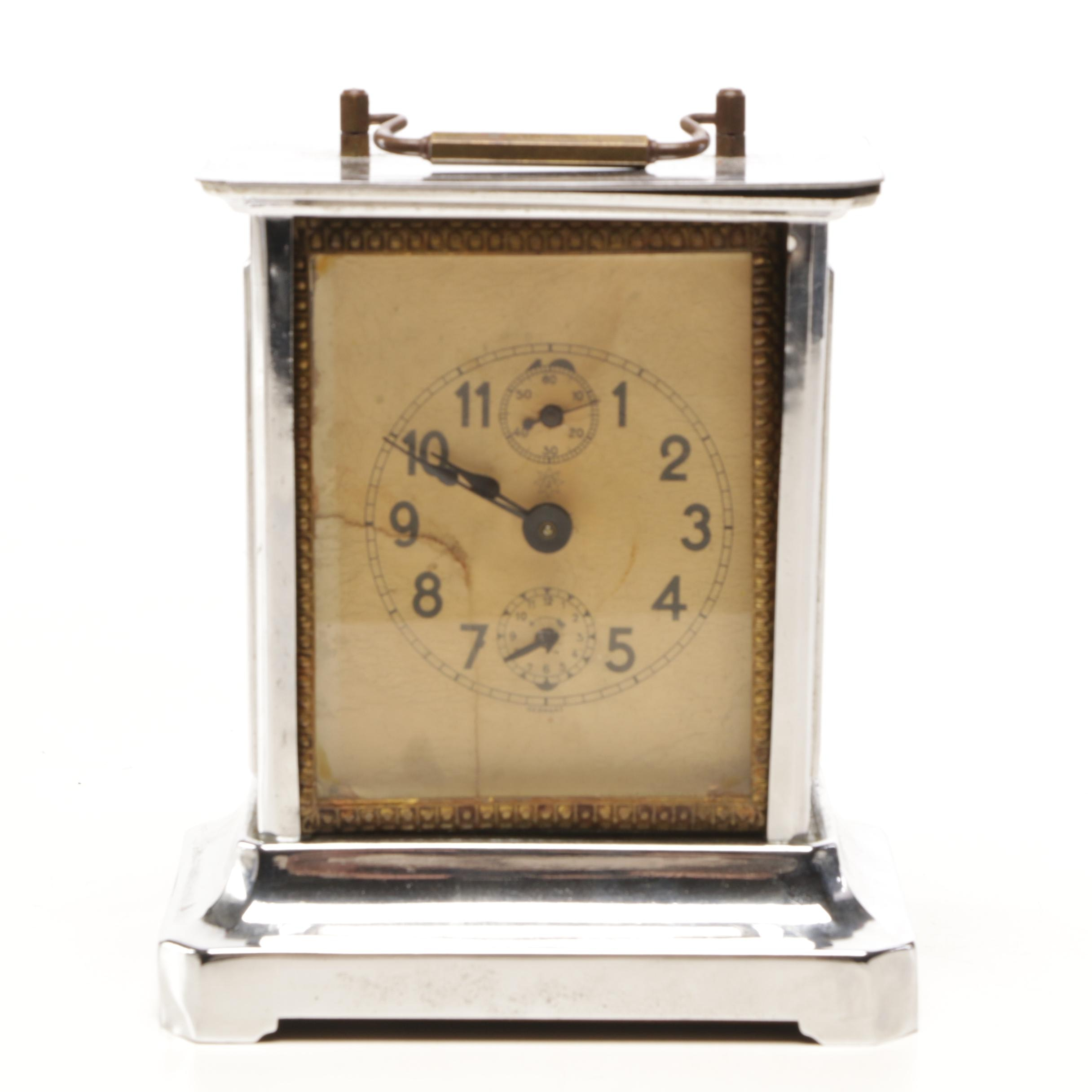 Junghans German Carriage Clock, Early 20th Century