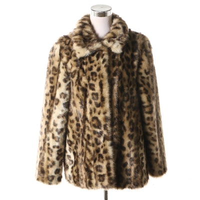 10f505f12ed0 Donna Salyers  Fabulous - Furs Leopard Print Faux Fur Jacket
