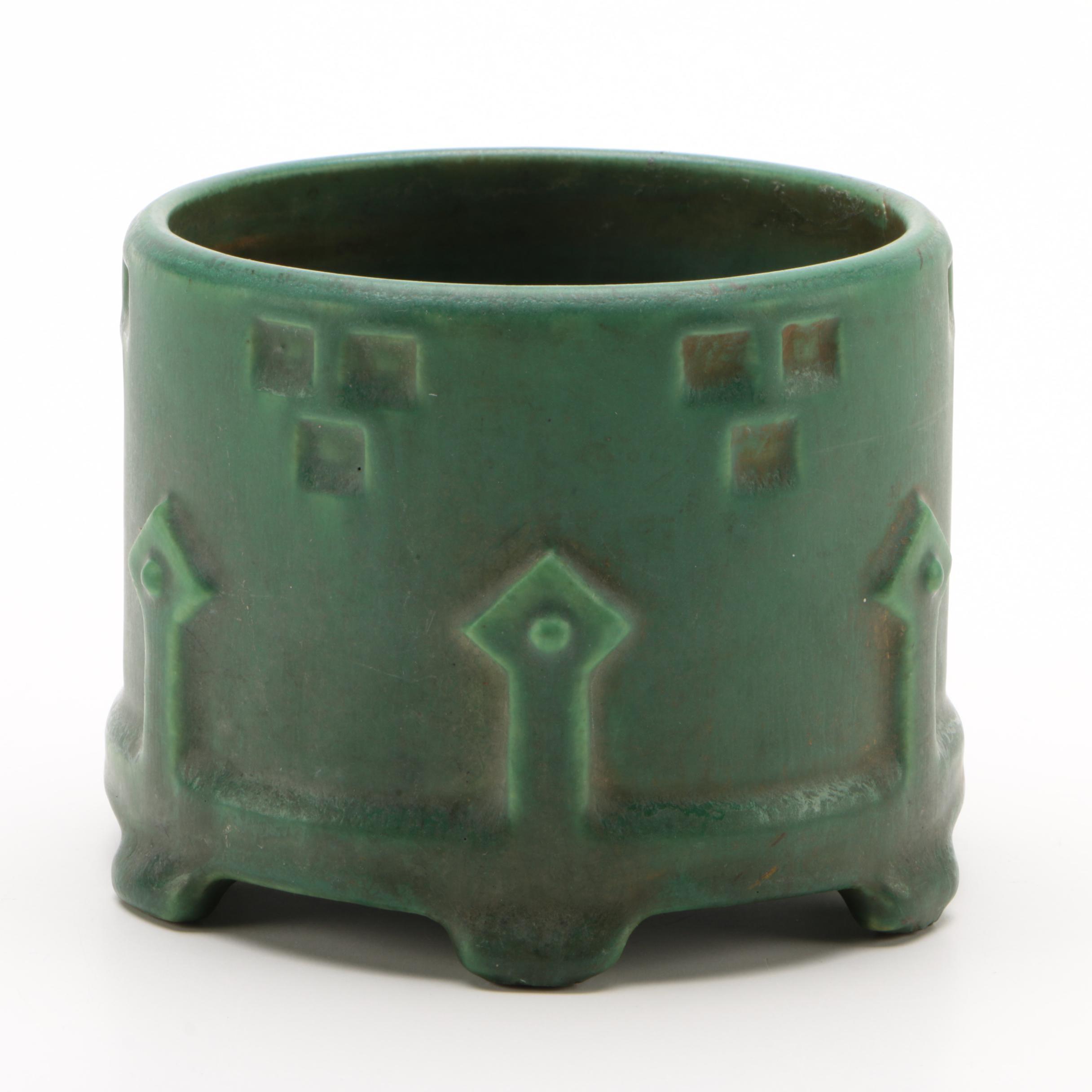 American Modern Art Pottery Earthenware Cachepot
