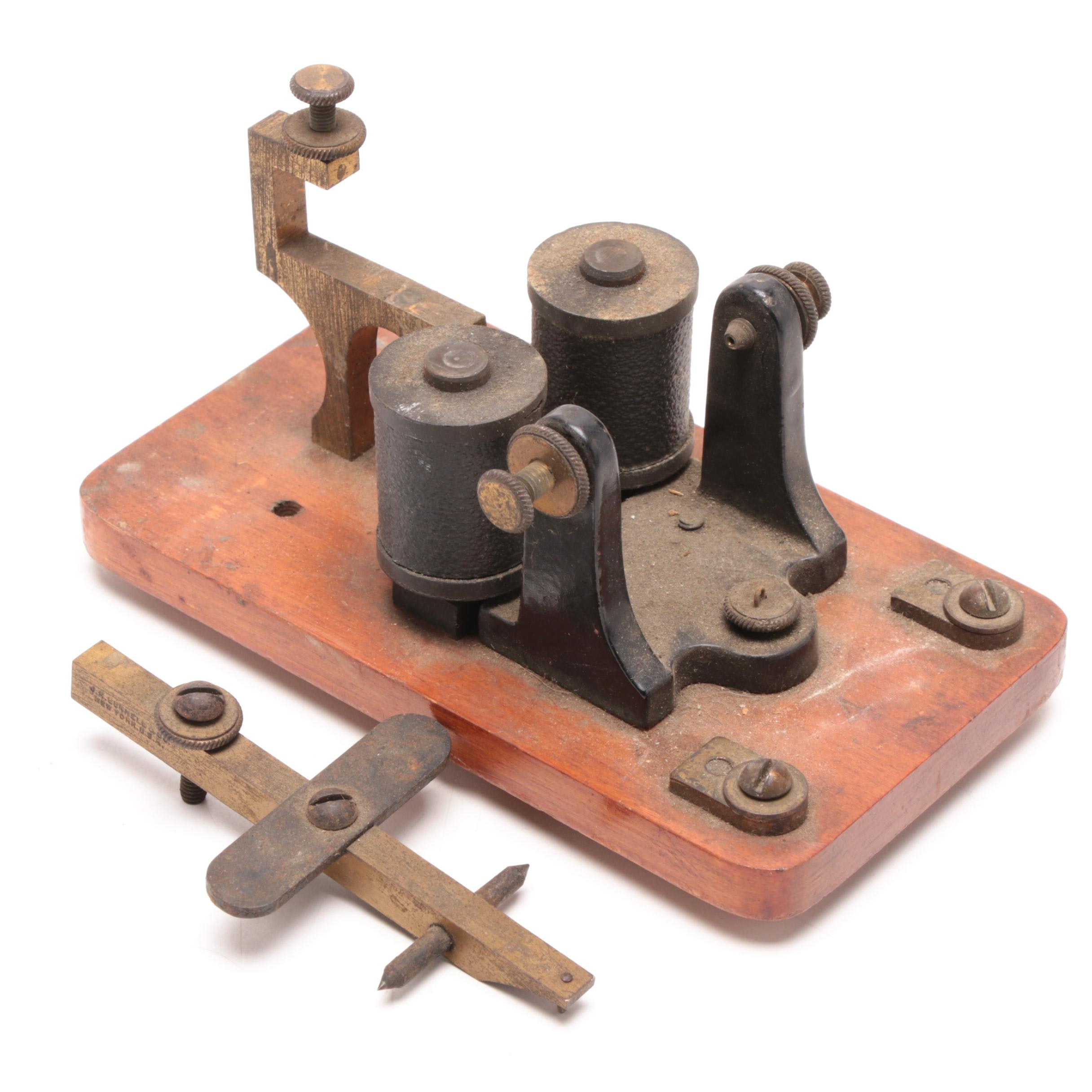 J.H. Bunnell & Co. Telegraph Relay Sounder, Early 20th Century