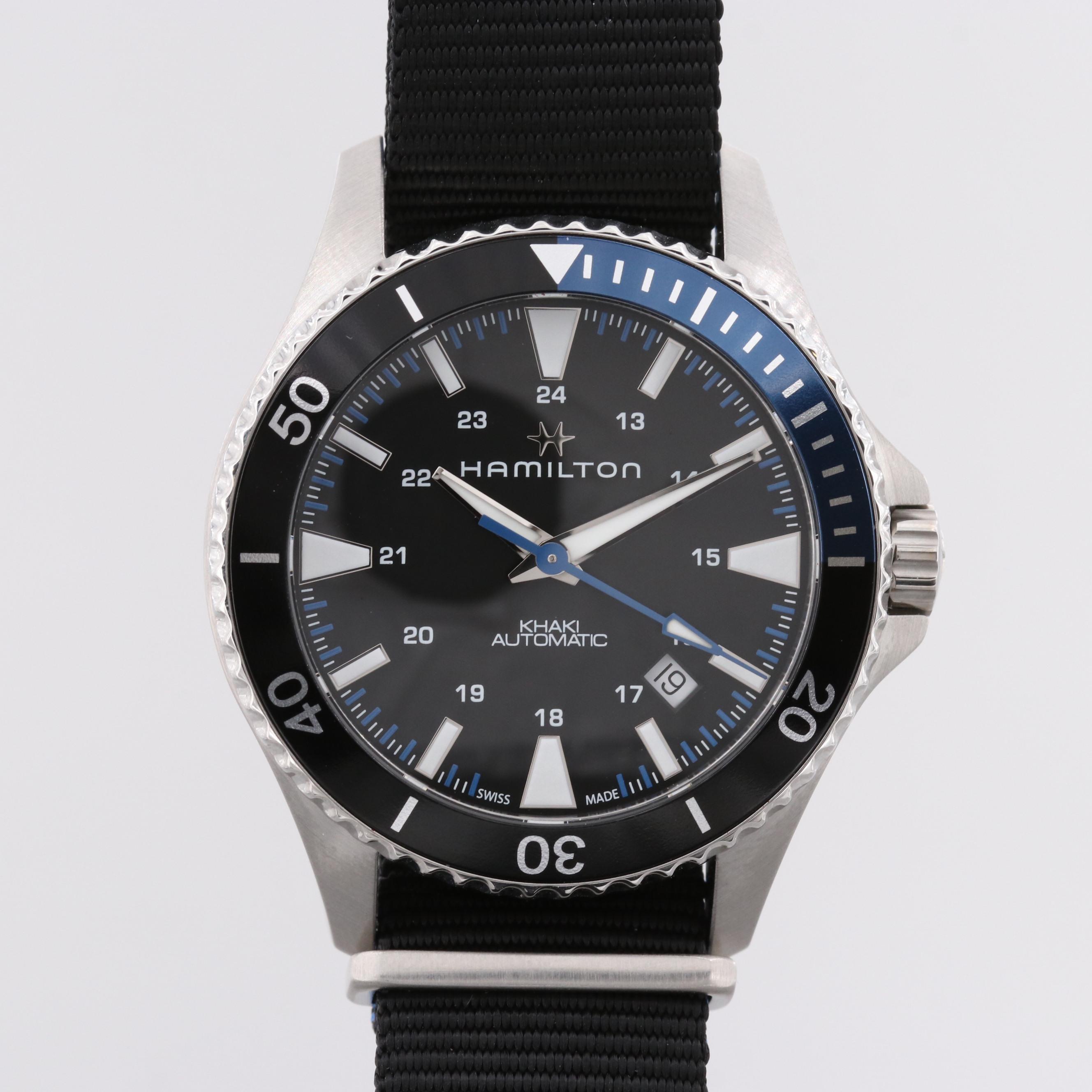 Hamilton Scuba Automatic Wristwatch With Batman Bezel and Black Dial