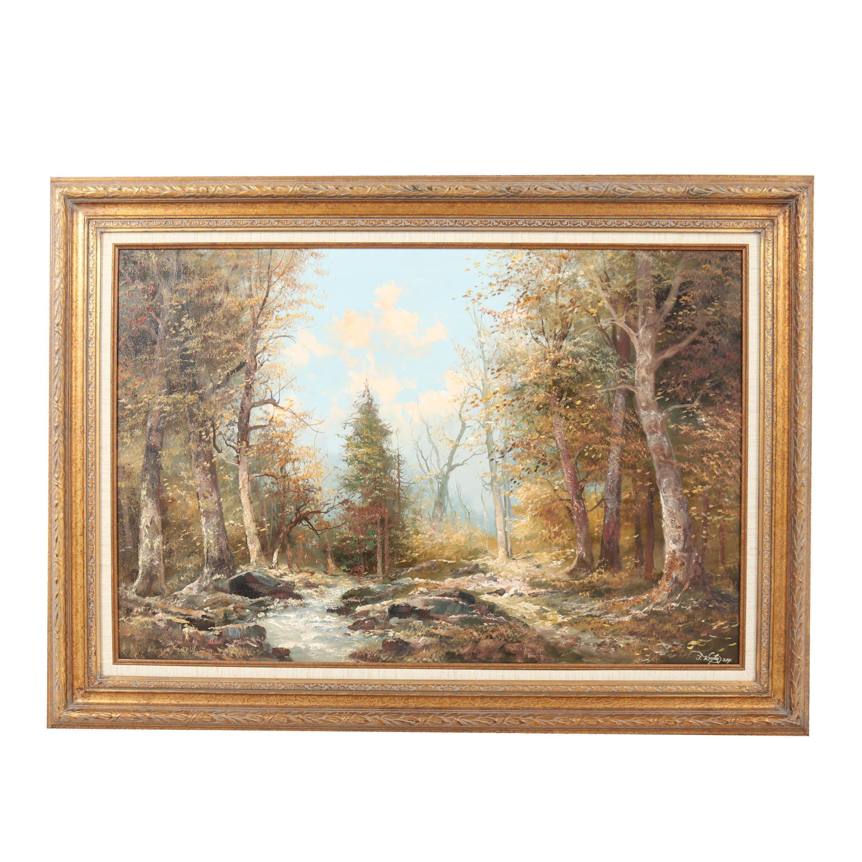 Josef Kugler Senior Landscape Oil Painting