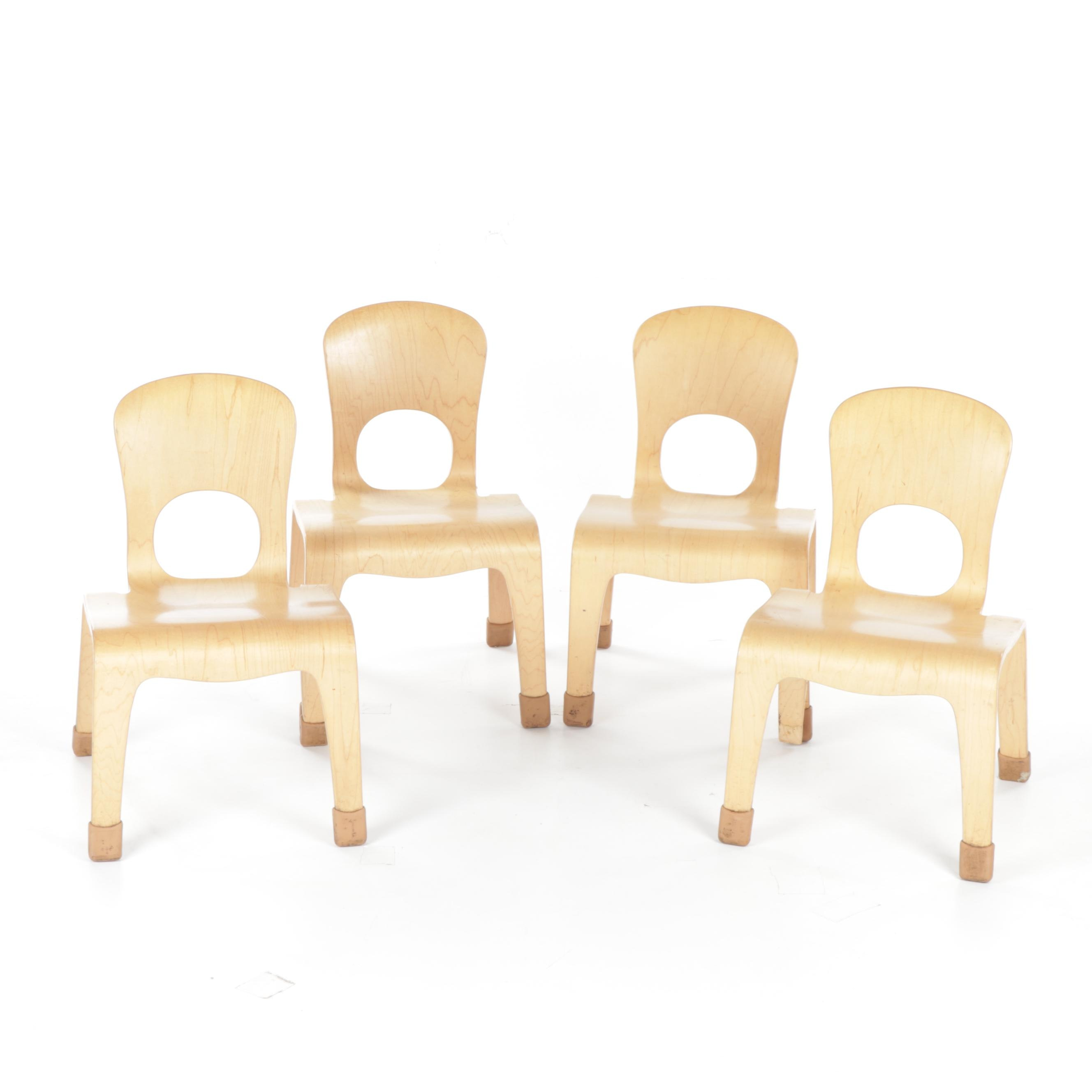 Community Playthings Wooden Stacking Children's Chairs