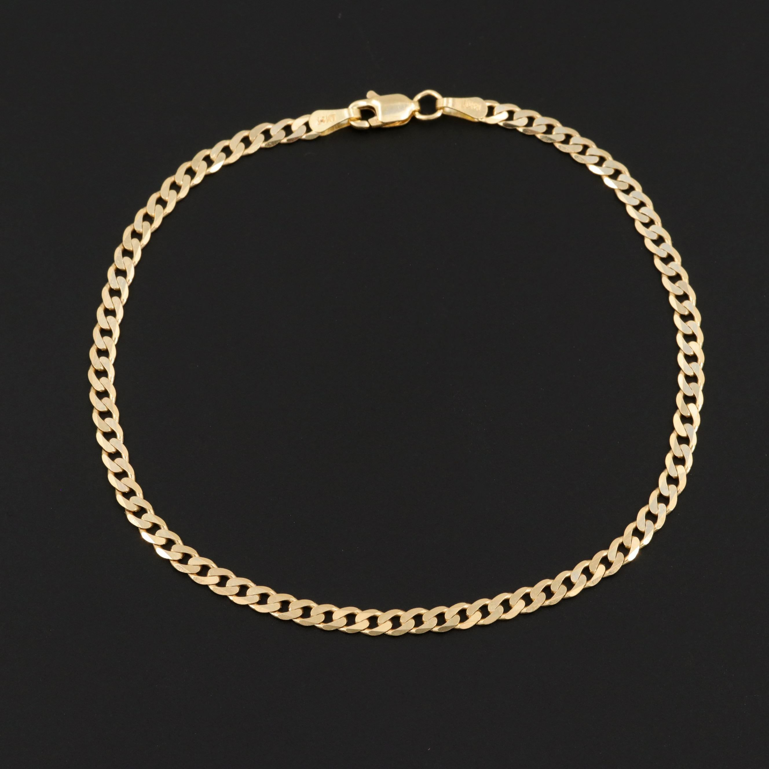 14K Yellow Gold Curb Chain Bracelet