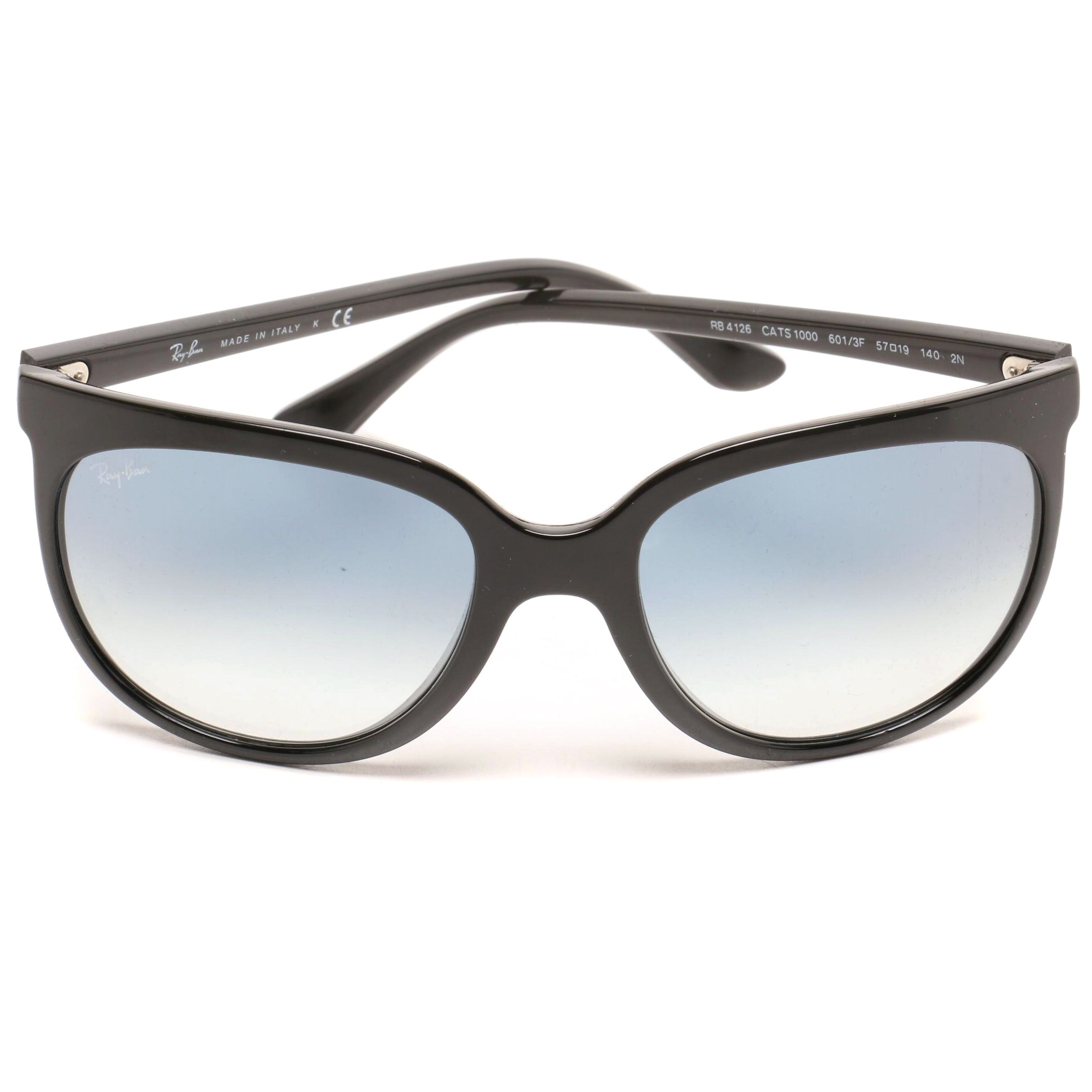 Ray-Ban Black Cats RB4126 Cat Eye Sunglasses with Case, Made in Italy