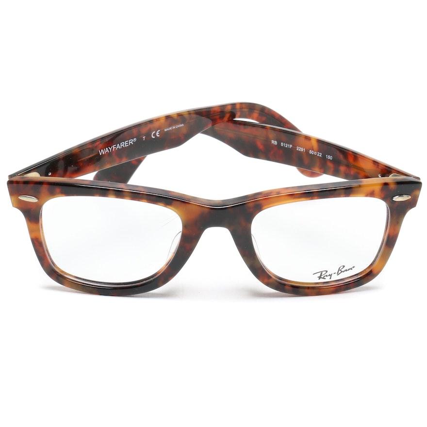 0b92842ff2 Ray-Ban Tortoiseshell Style RB 5121F Wayfarer Eyeglasses with Case   EBTH