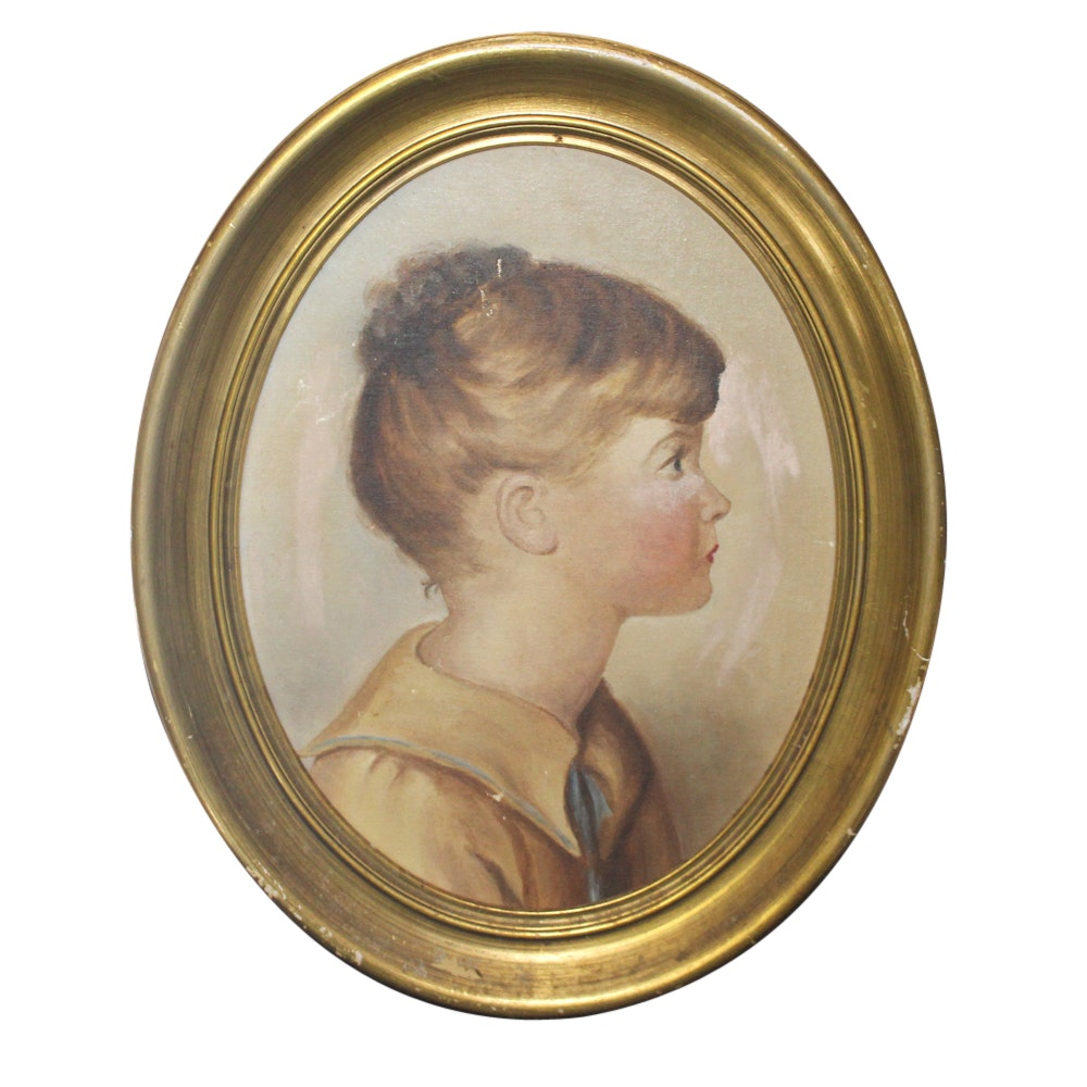 Oil Painting of Young Girl