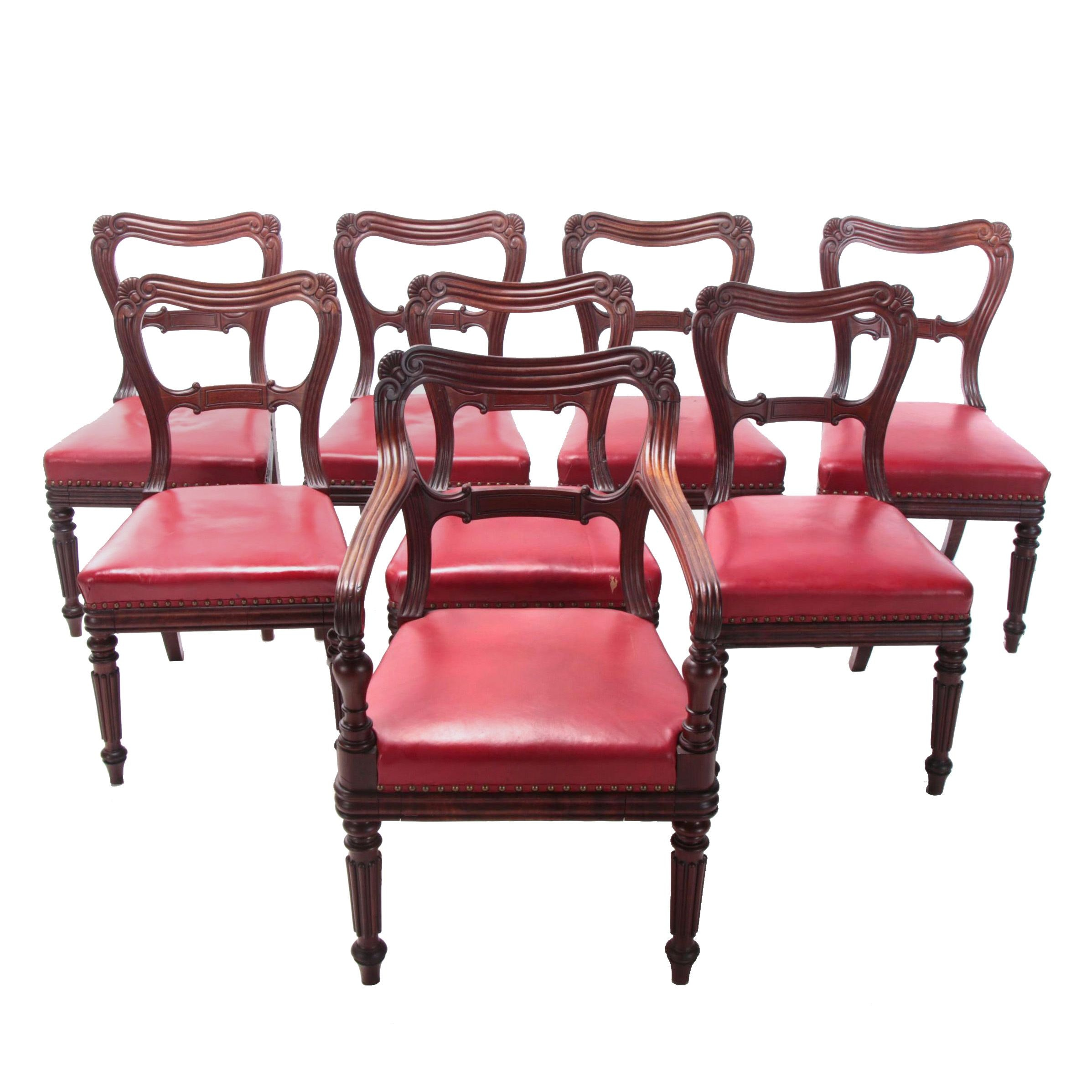Eight Gillows of Lancaster, George IV Mahogany Dining Chairs, Circa 1820-1830
