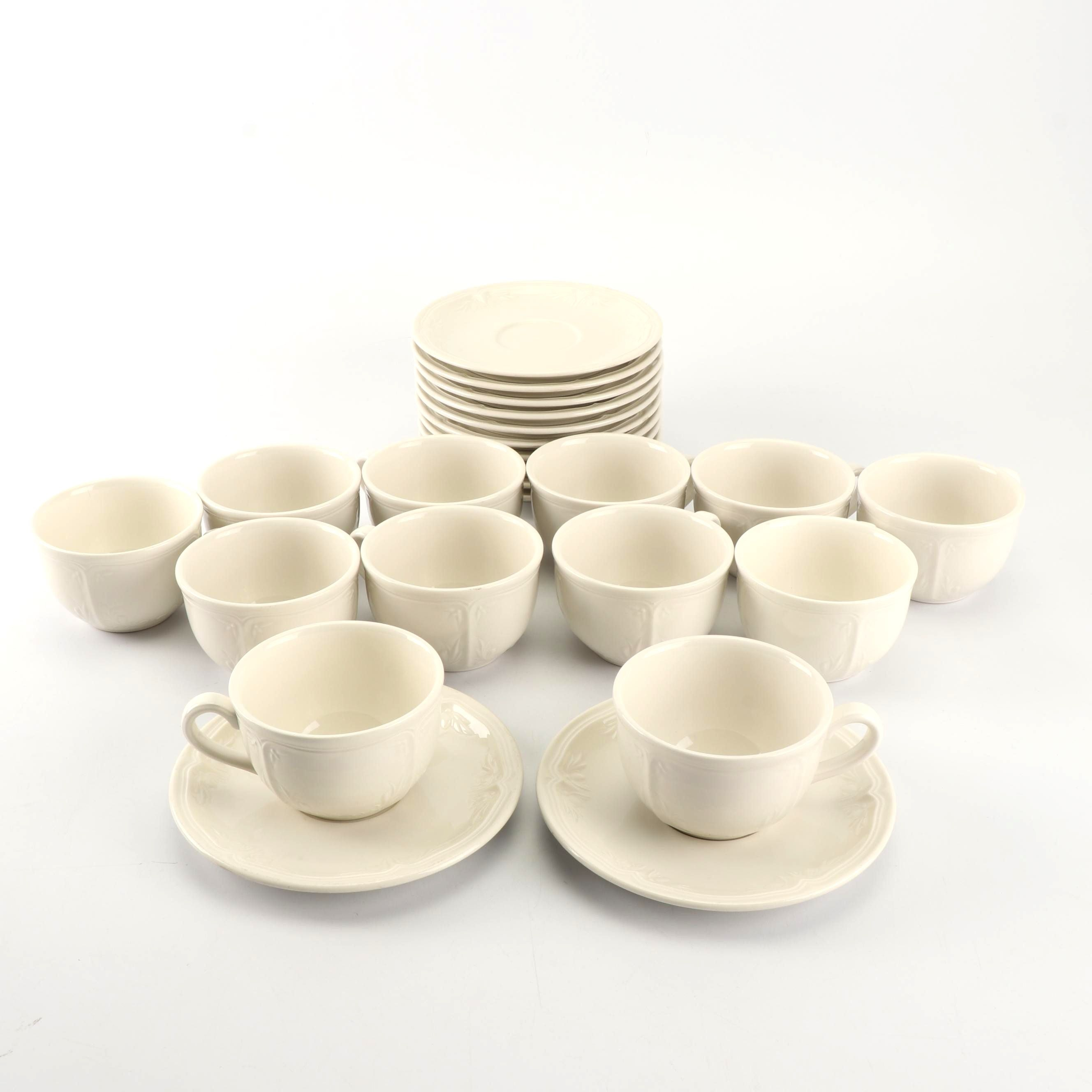 "Villeroy & Boch ""Cortina"" Restaurant Ware Cups and Saucers"