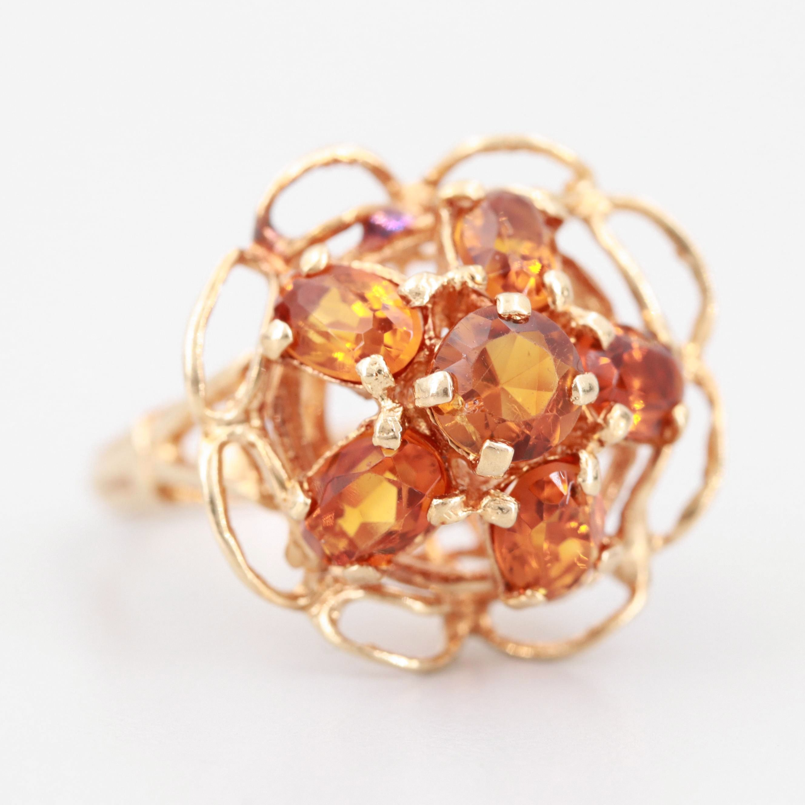 Vintage Yellow Gold Citrine Ring
