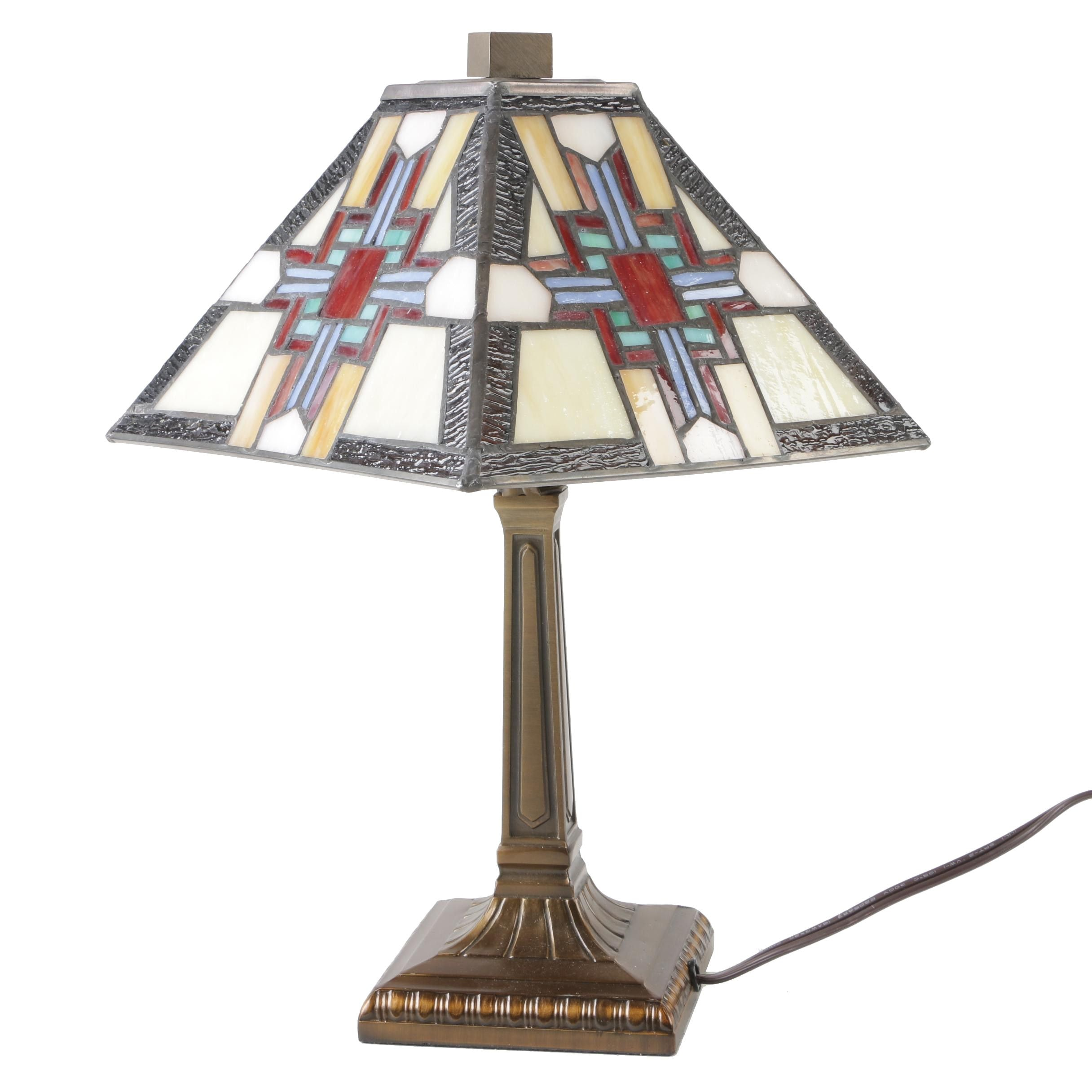 Dale Tiffany Inspired Stained Glass Table Lamp
