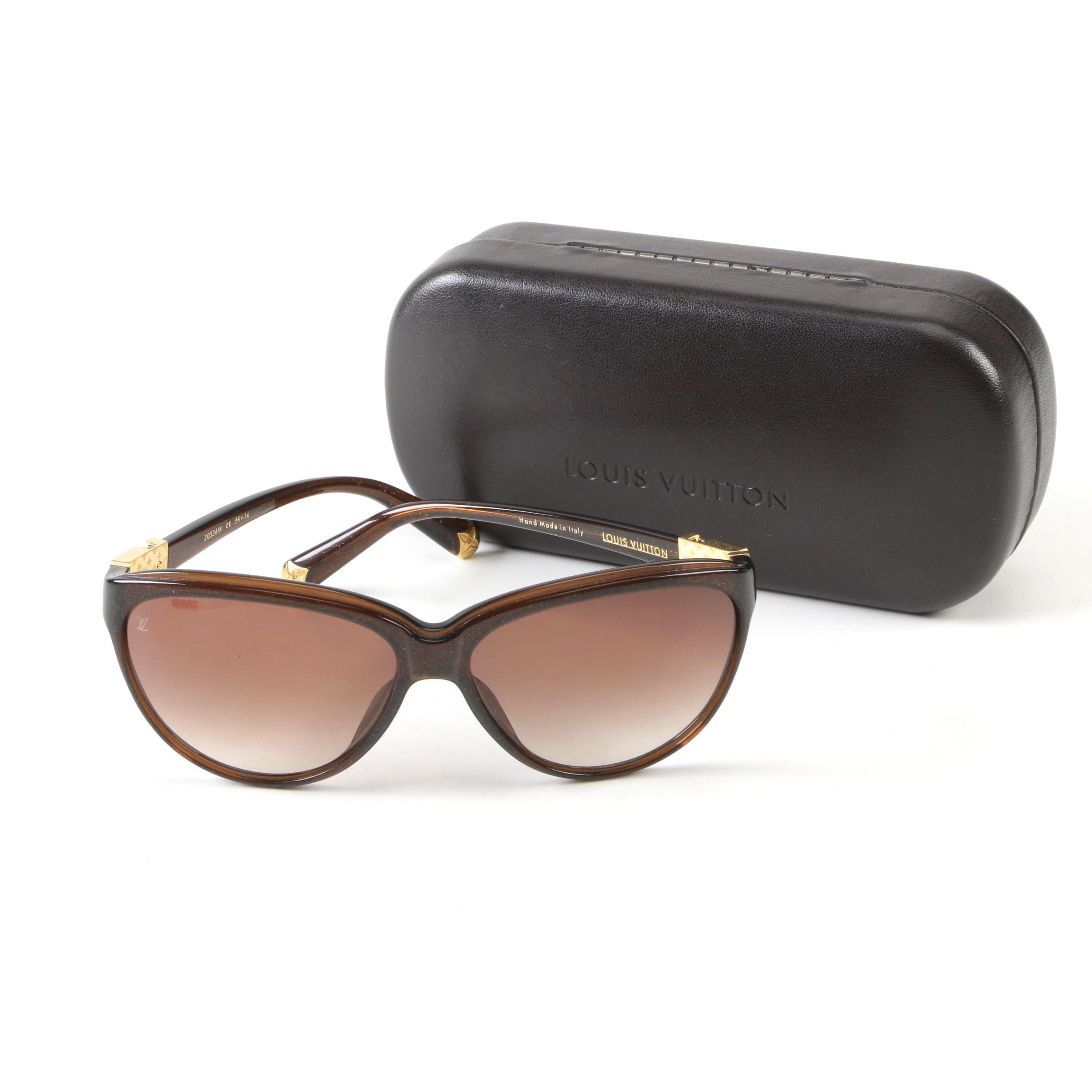 Louis Vuitton Paris Z0336W Glitter Brown Sunglasses with Case, 2012