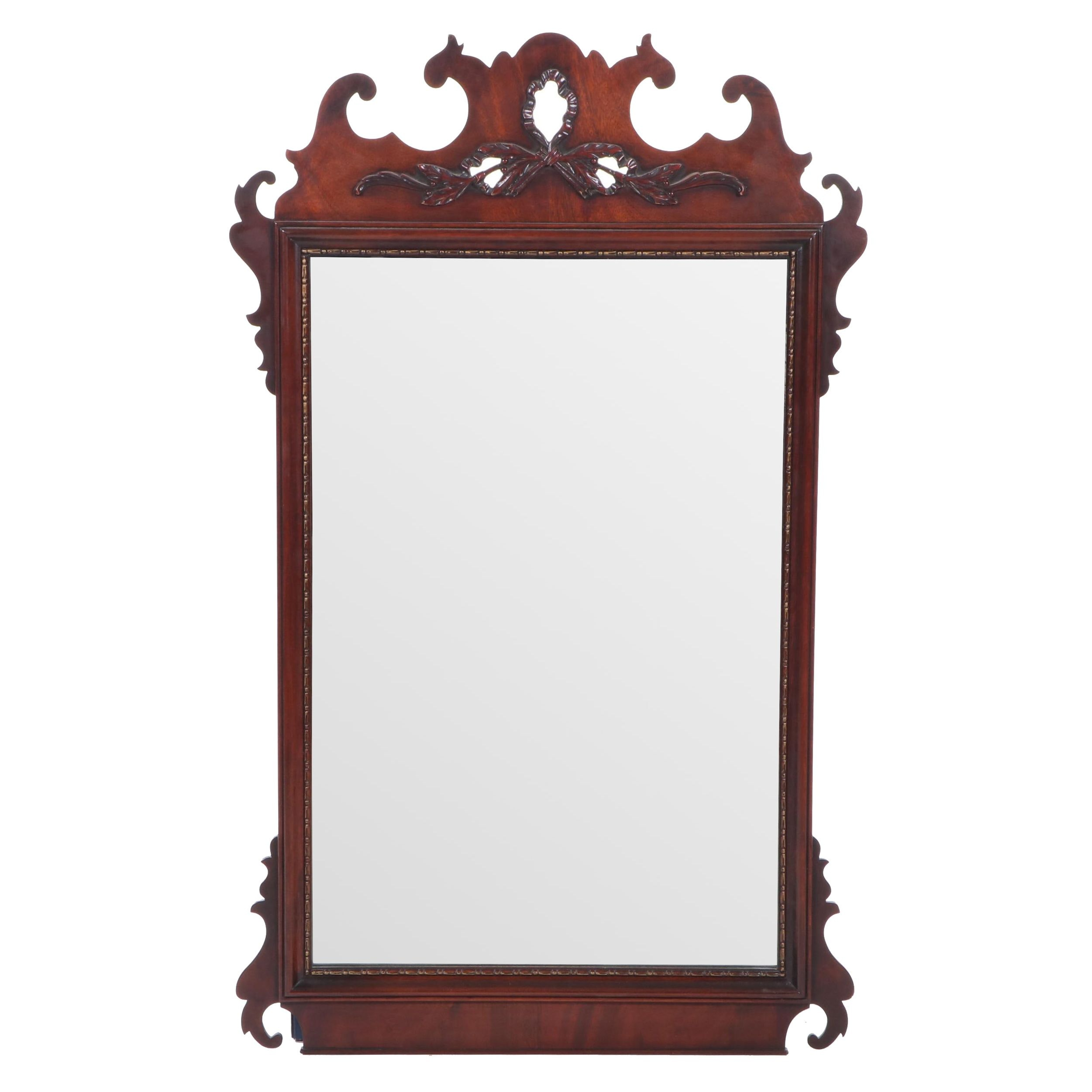 Mahogany Chippendale Style Wall Mirror, Mid 20th Century