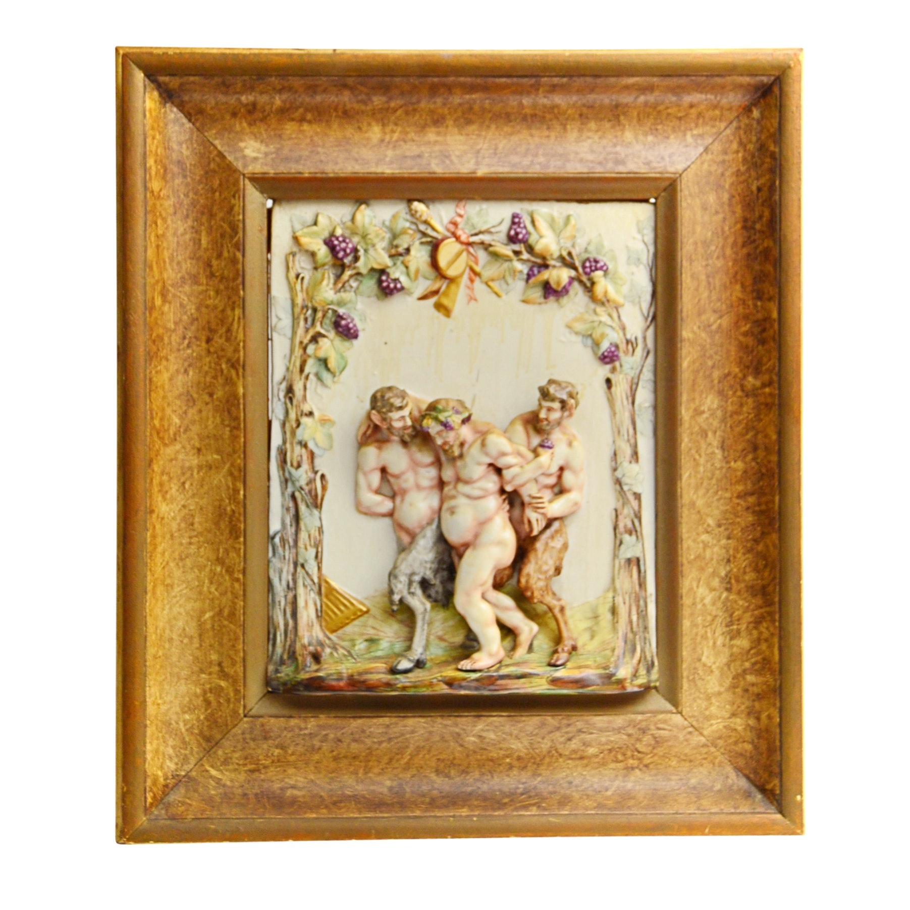 Capodimonte Relief Tile of Bacchus