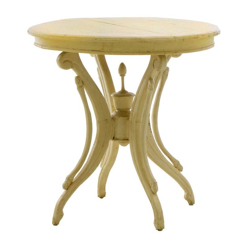 Victorian Cream-Painted Center Table, Third Quarter 19th Century