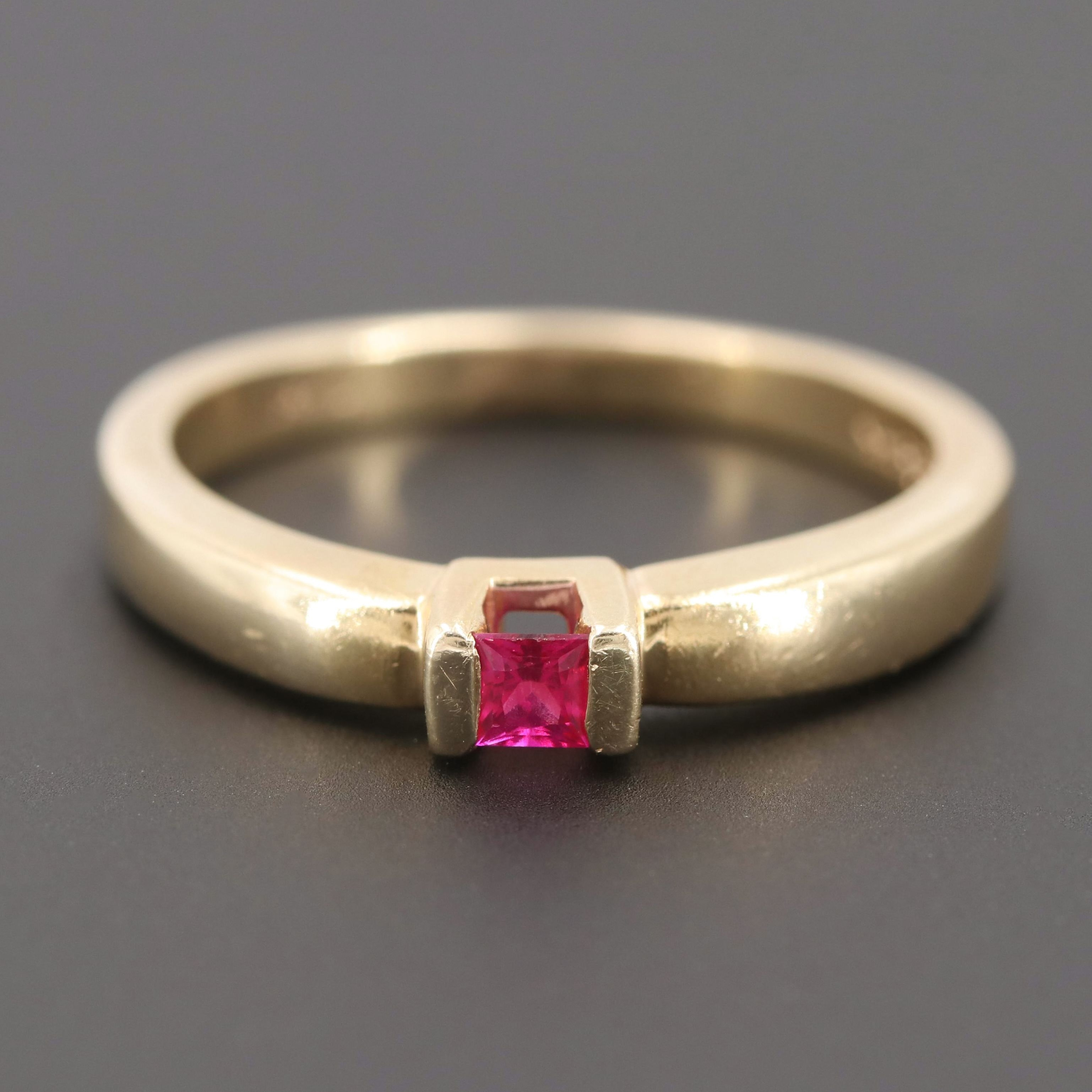 Shane Co. 14K Yellow Gold Ruby Ring