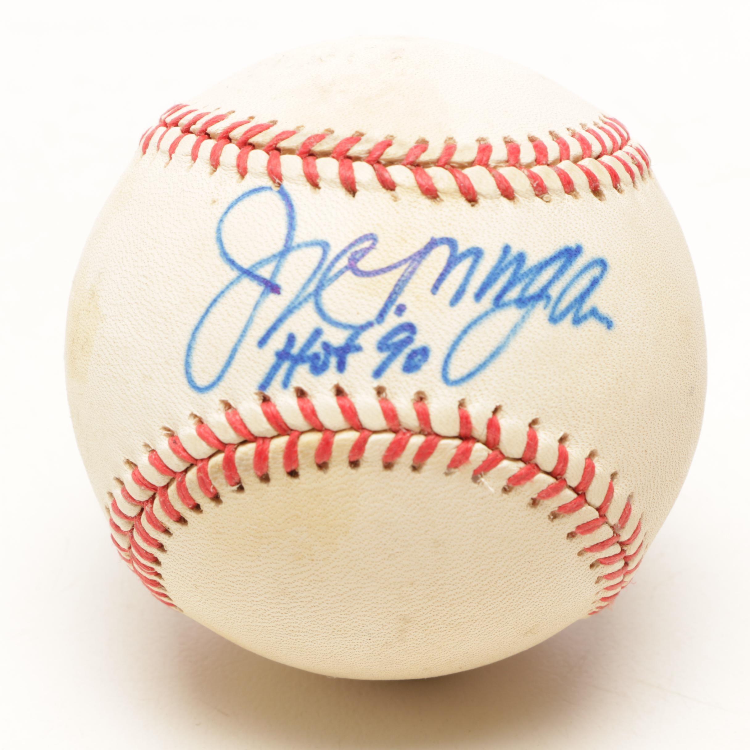 Joe Morgan Signed National League Baseball