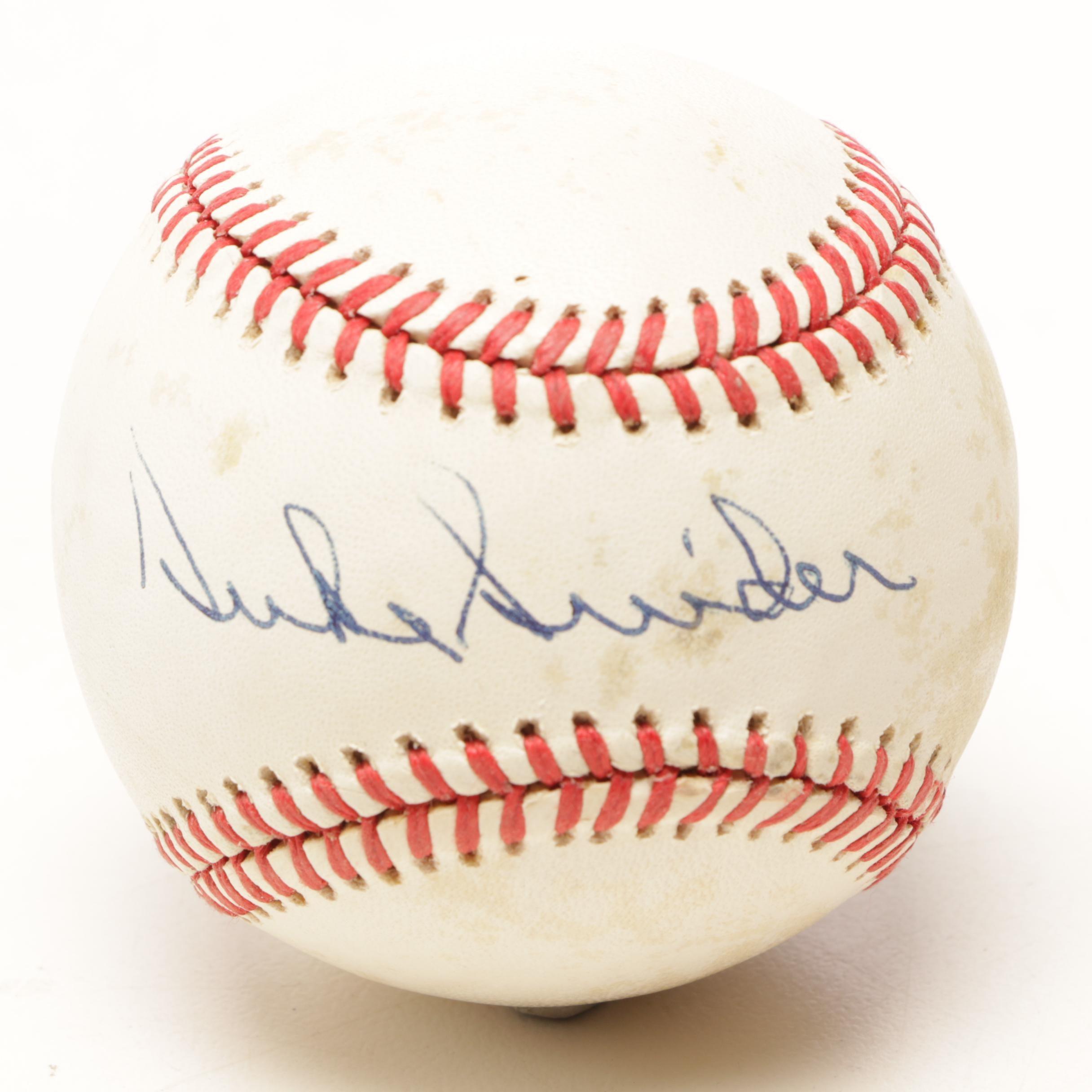 (HOF) Duke Snider Signed Rawlings National League Baseball